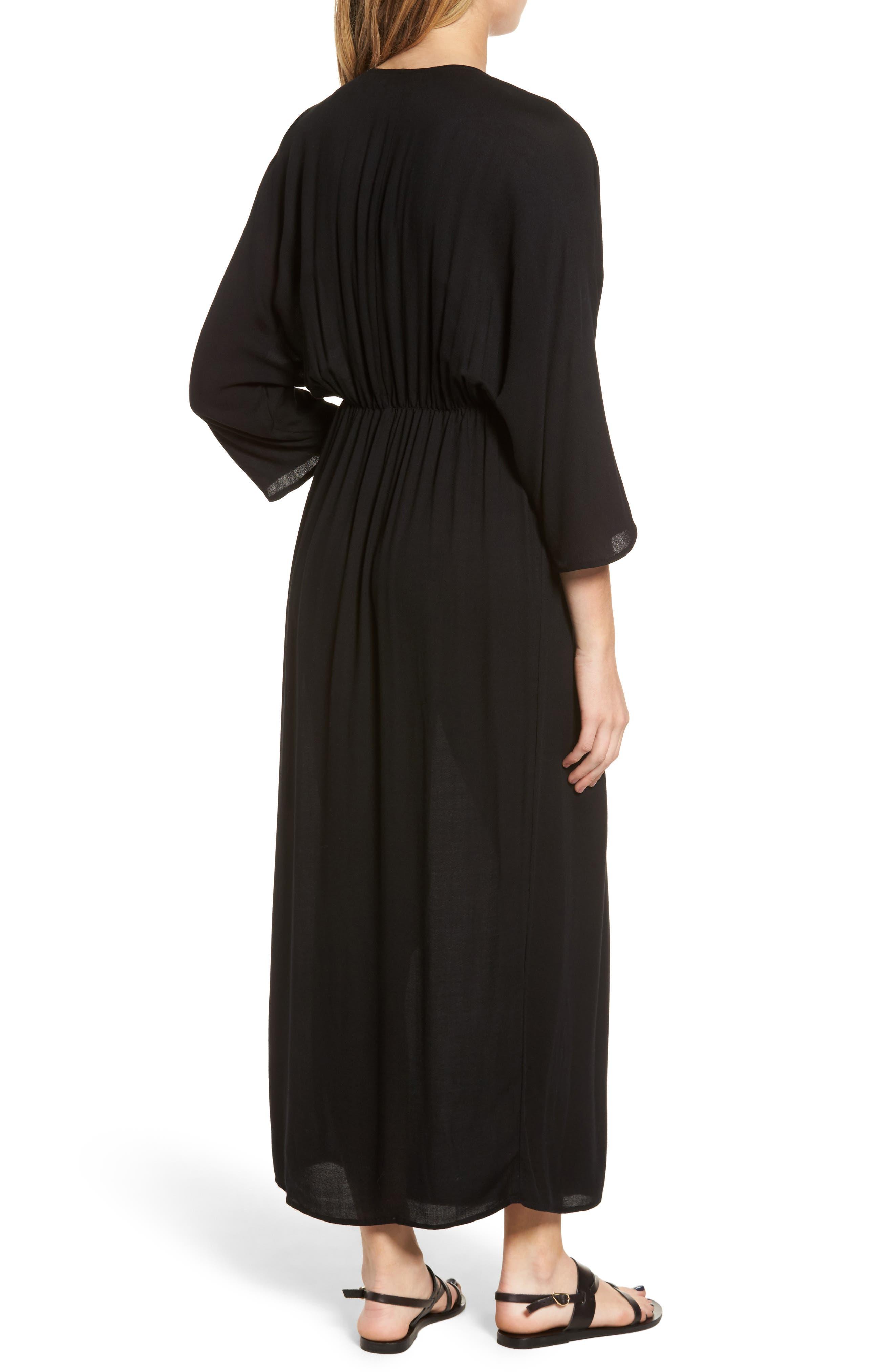 Blouson Maxi Dress,                             Alternate thumbnail 2, color,                             001