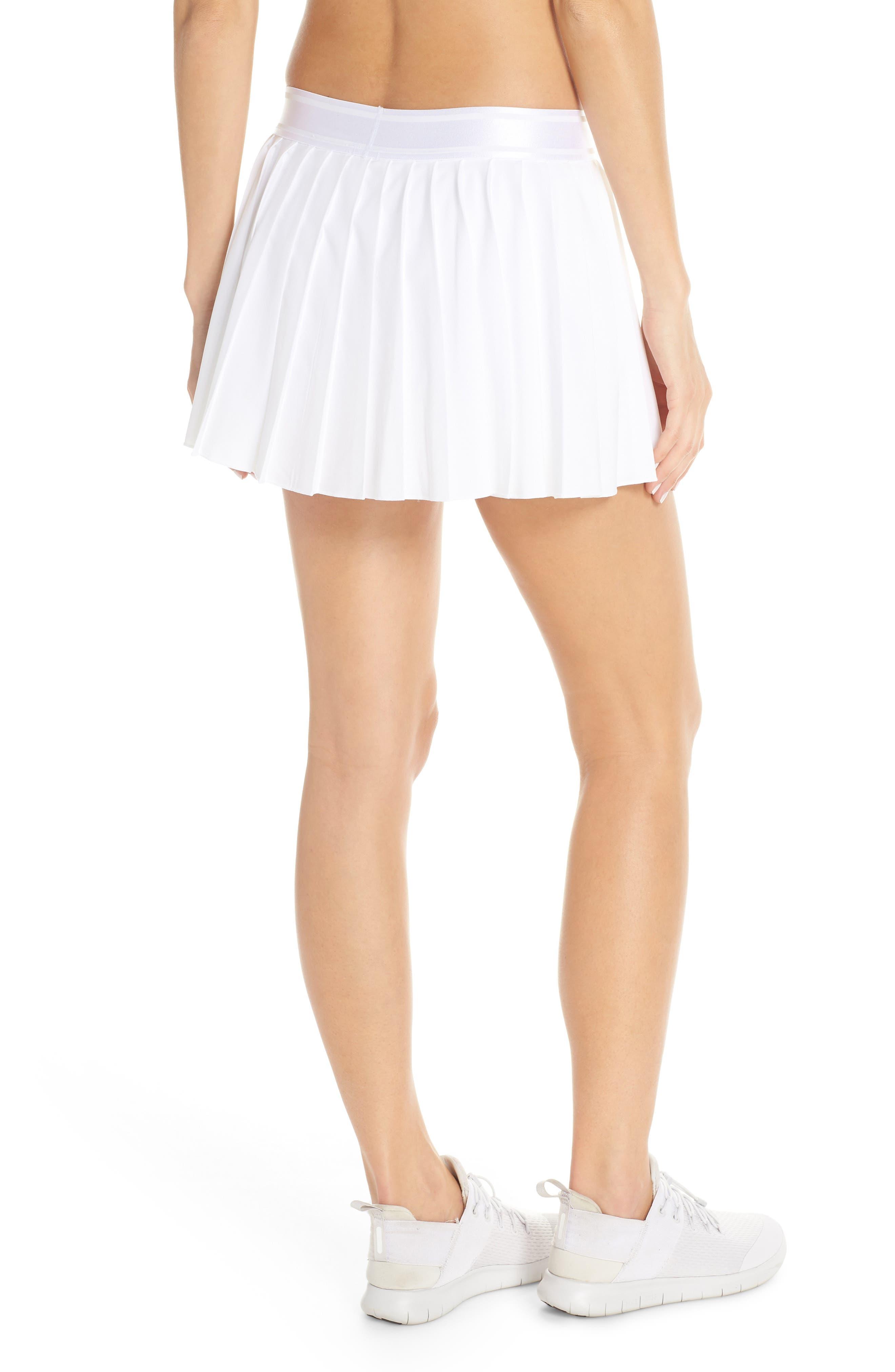 Court Victory Tennis Skirt,                             Alternate thumbnail 2, color,                             WHITE/ BLACK