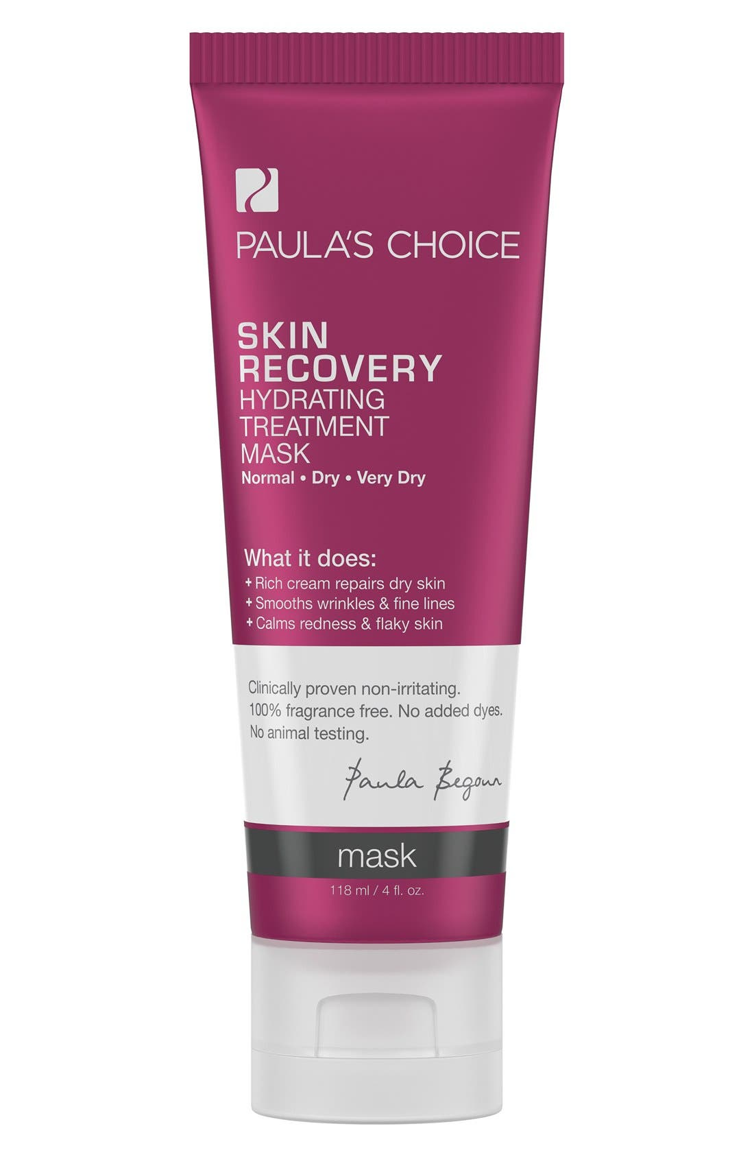 Skin Recovery Hydrating Treatment Mask,                             Main thumbnail 1, color,                             000