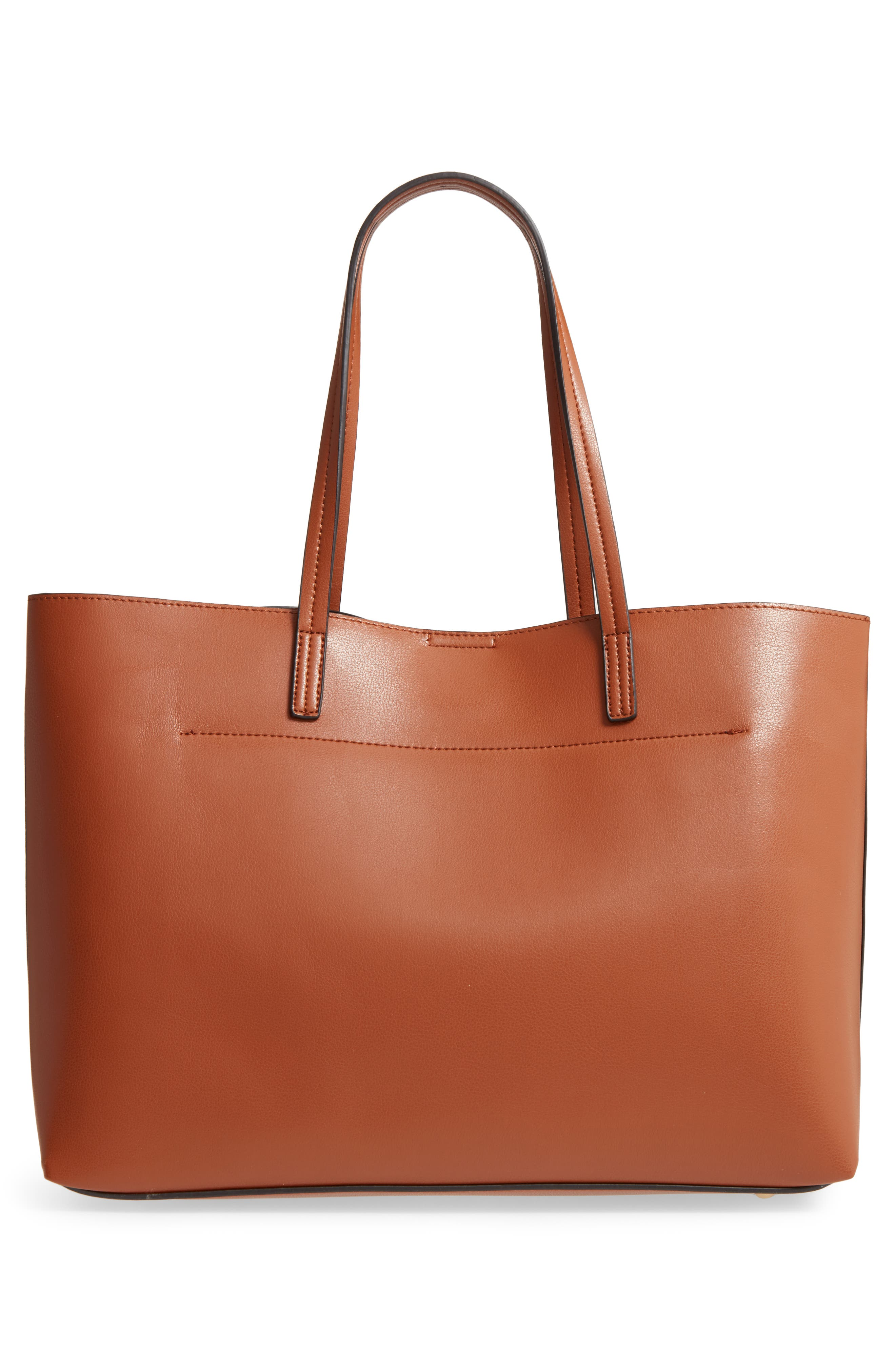 Oversize City Faux Leather Tote,                             Alternate thumbnail 3, color,                             200