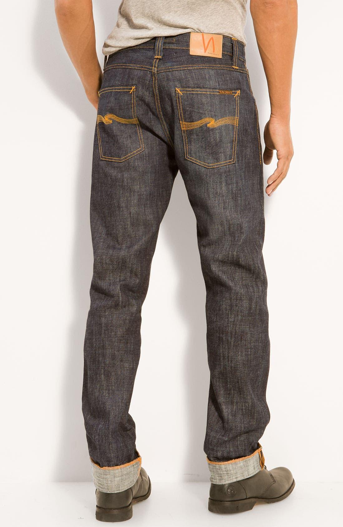 NUDIE JEANS,                             Nudie 'Sharp Bengt' Straight Leg Jeans,                             Main thumbnail 1, color,                             400