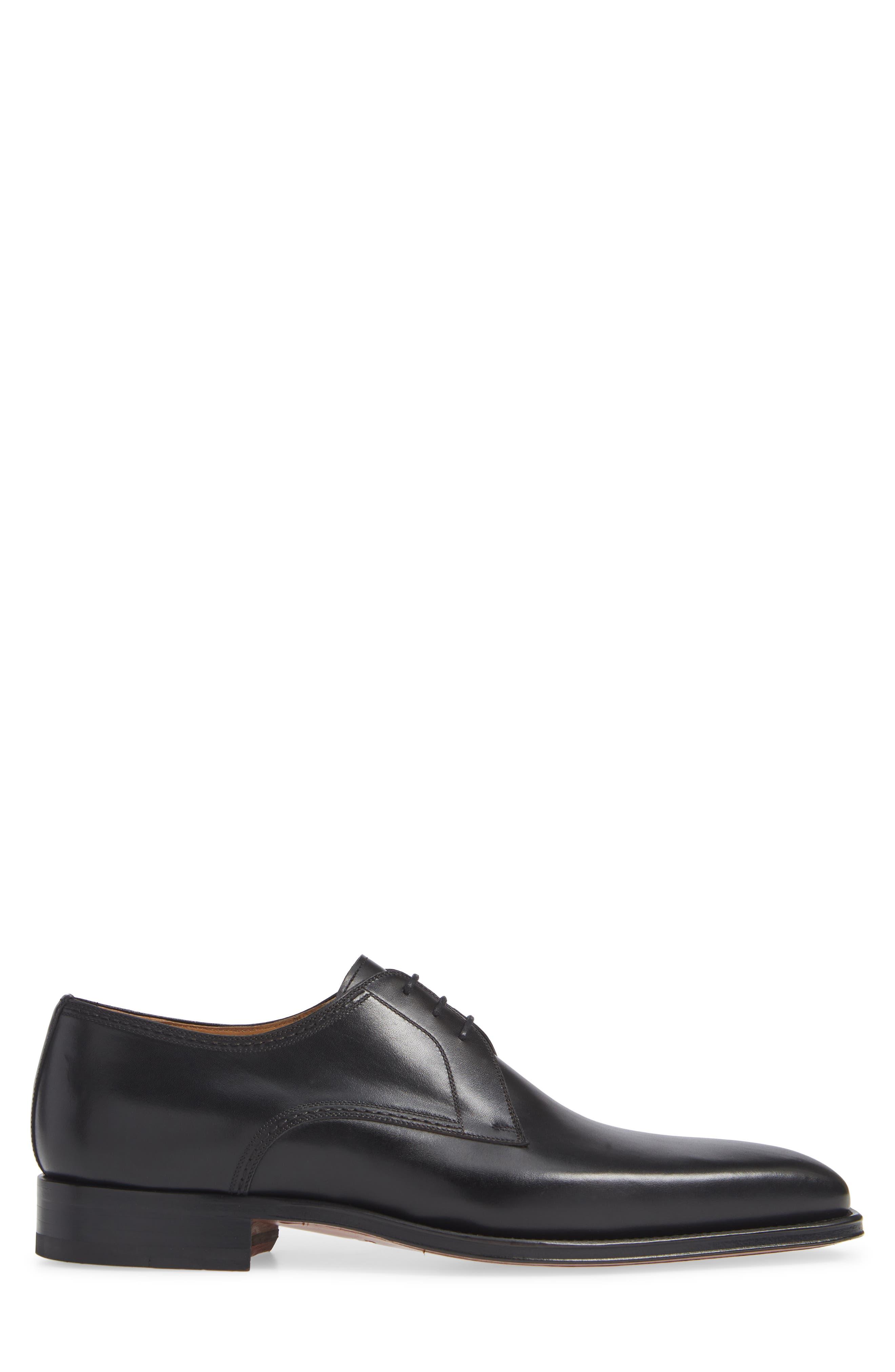 Layton Plain Toe Derby,                             Alternate thumbnail 3, color,                             BLACK LEATHER