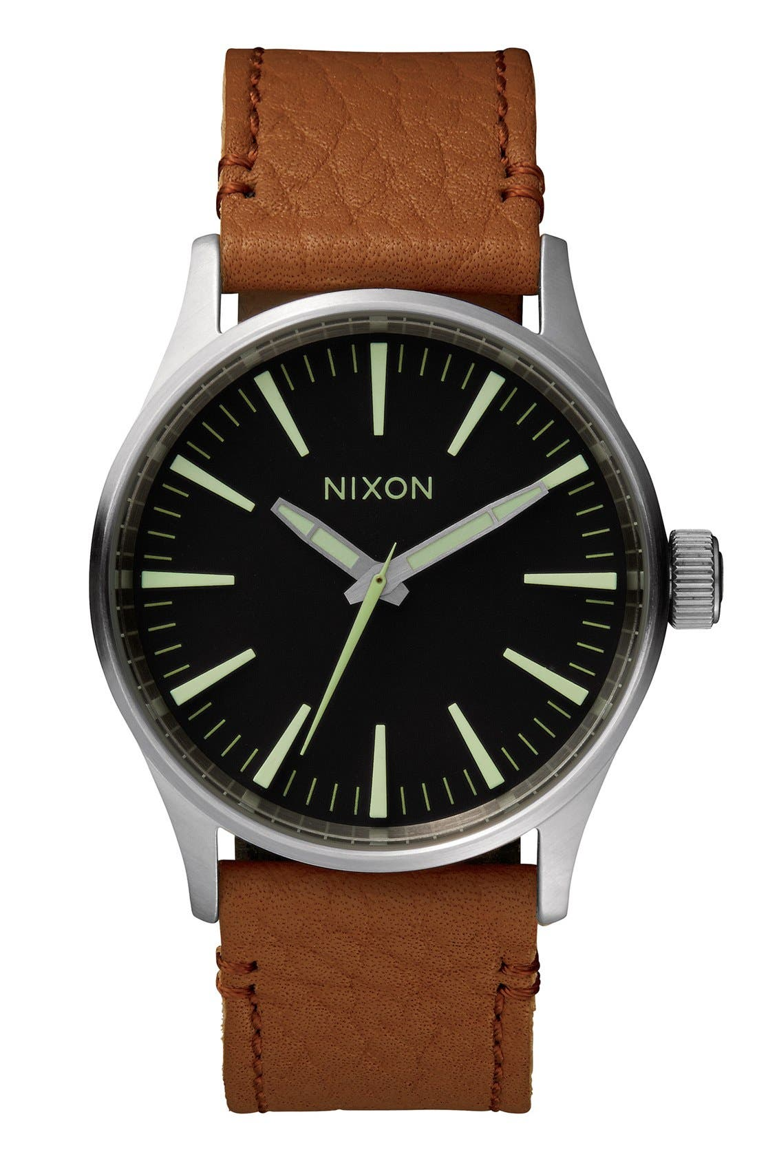 'The Sentry 38' Leather Strap Watch, 38mm,                             Main thumbnail 6, color,