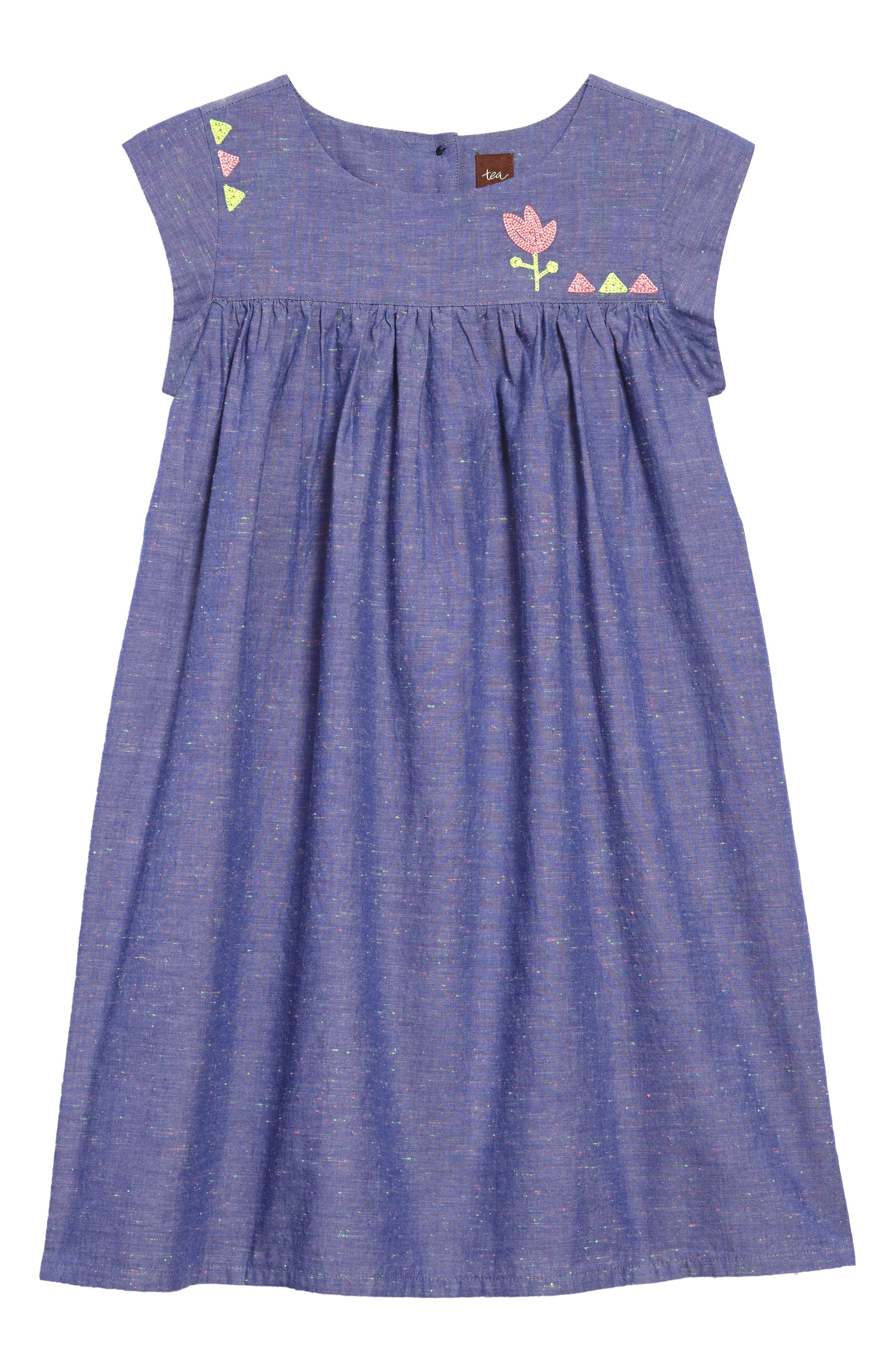 Nep Chambray Dress,                             Main thumbnail 1, color,