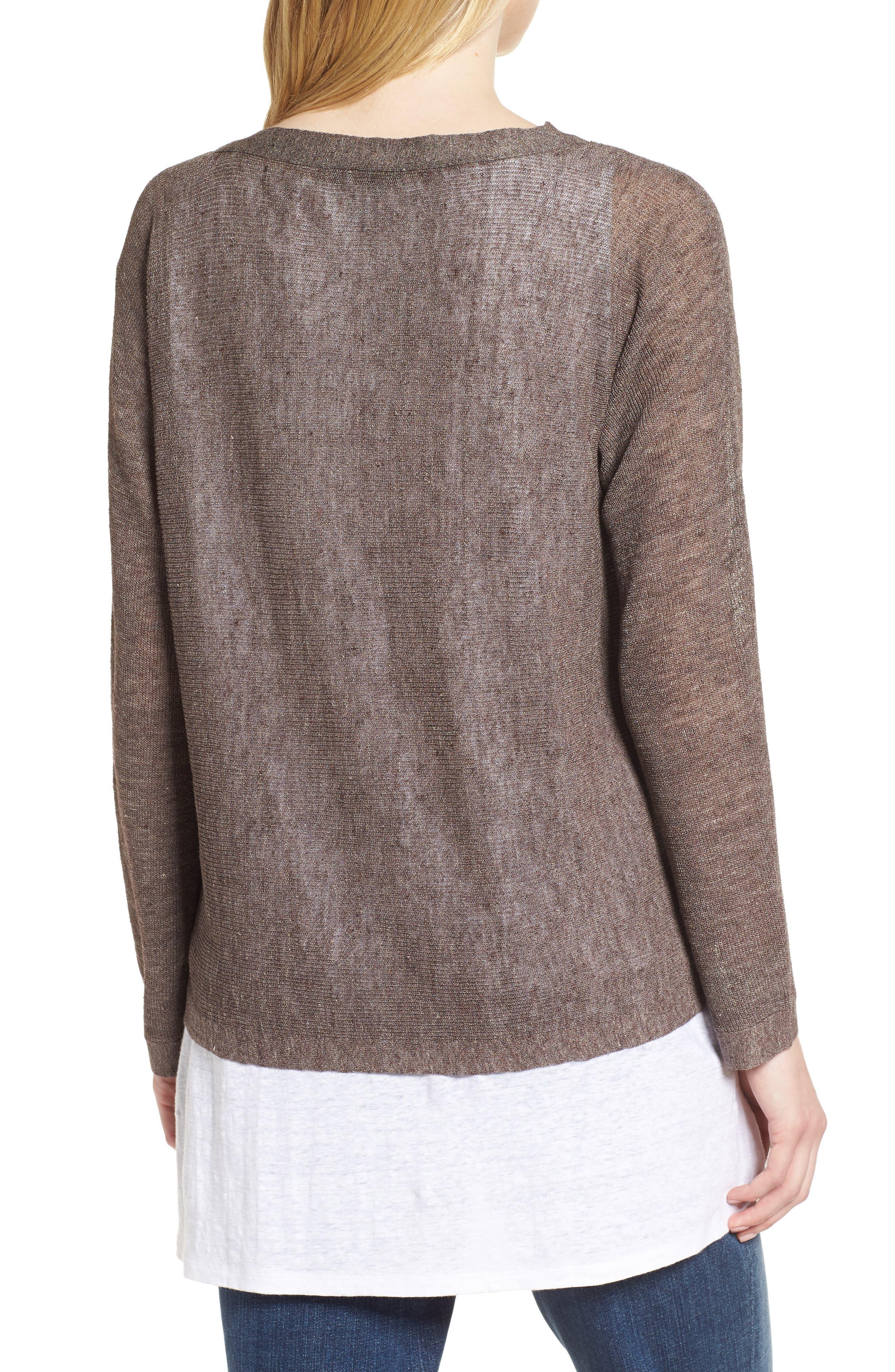 Linen Blend Sweater,                             Alternate thumbnail 2, color,                             024