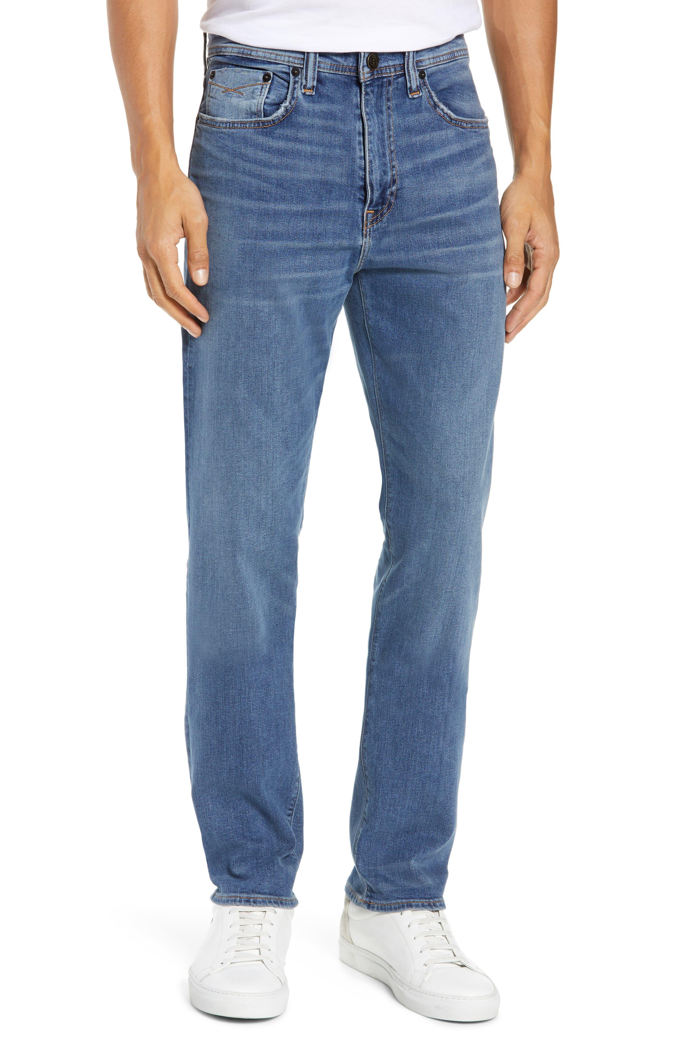 Automatic Straight Leg Jeans,                             Main thumbnail 1, color,                             FADED INDIGO