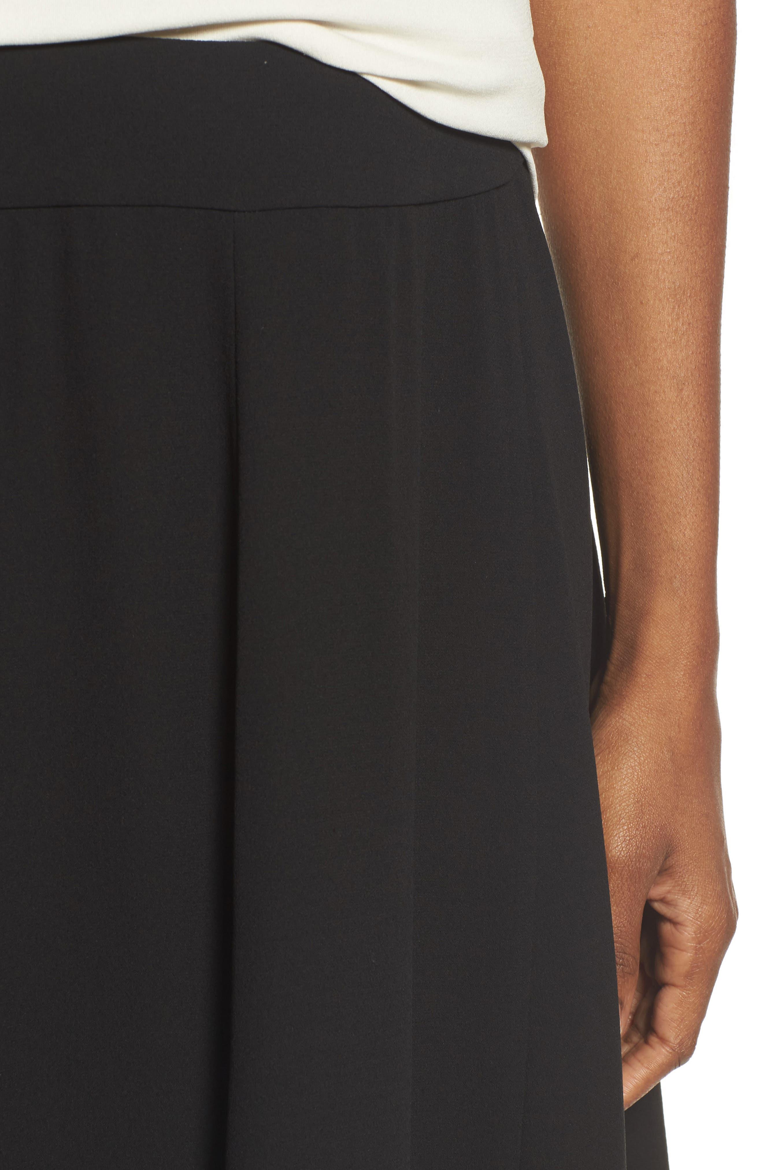 Gored Silk Skirt,                             Alternate thumbnail 4, color,                             001