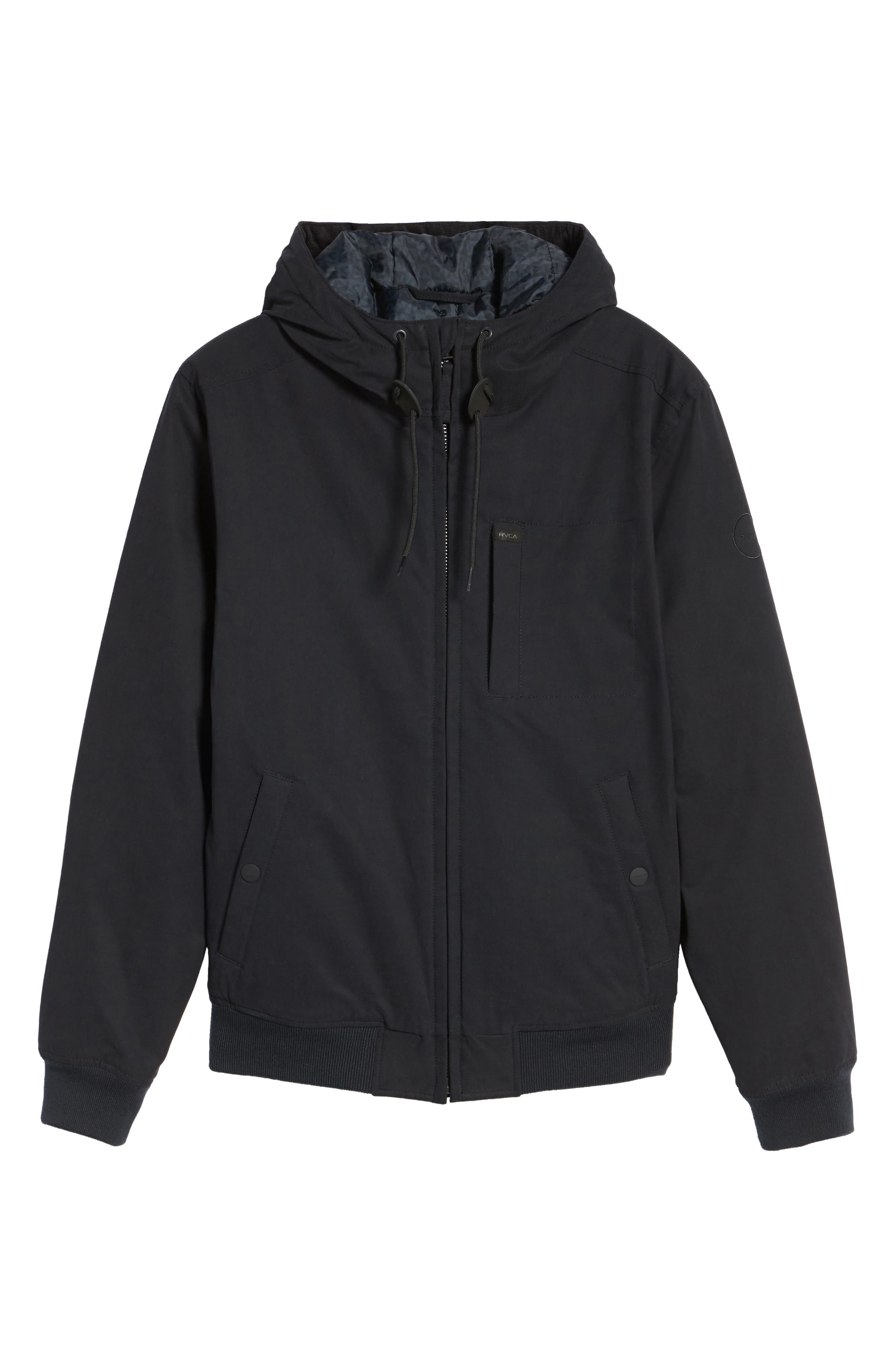 Hooded Bomber Jacket,                             Alternate thumbnail 5, color,                             001