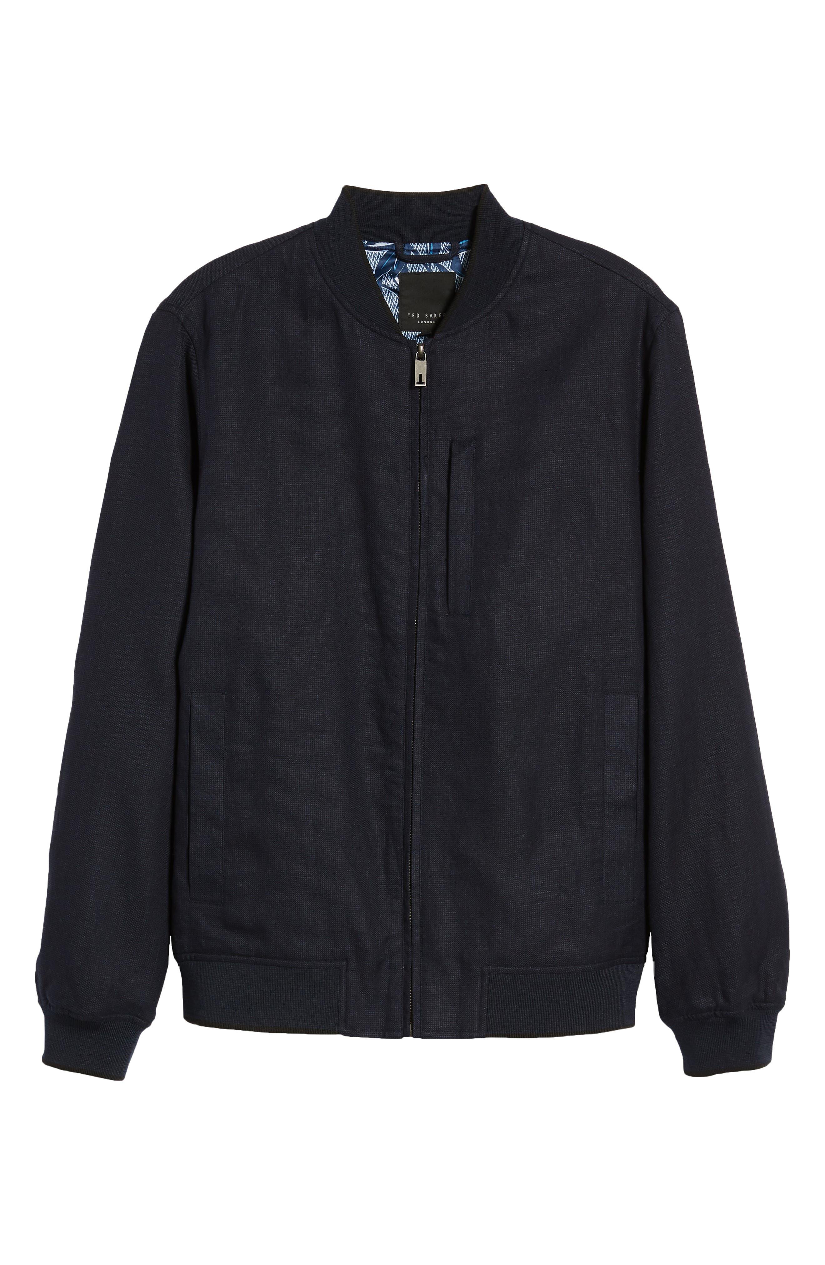 Raney Trim Fit Linen & Cotton Jacket,                             Alternate thumbnail 5, color,                             410