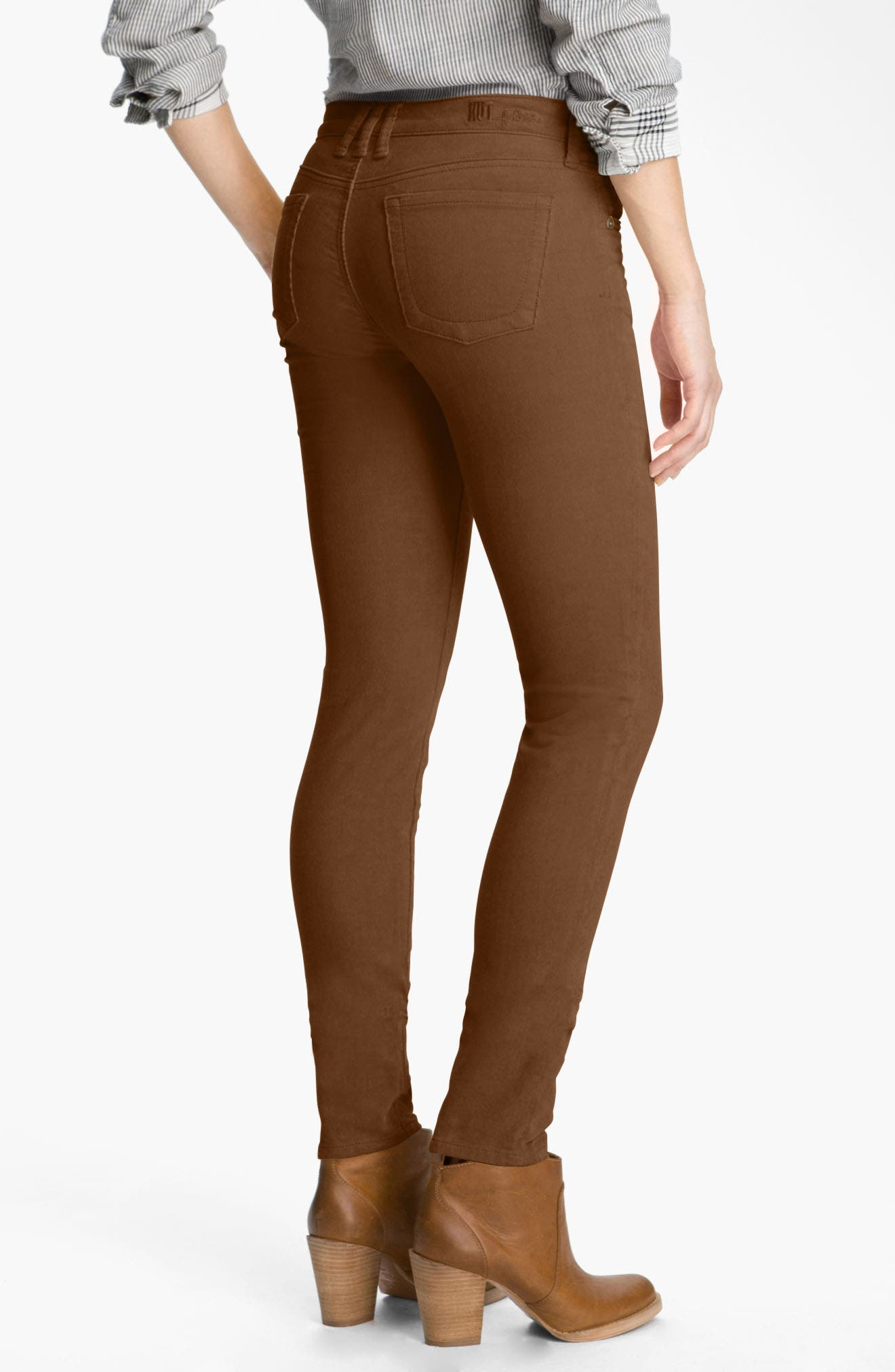 'Diana' Stretch Corduroy Skinny Pants,                             Alternate thumbnail 220, color,