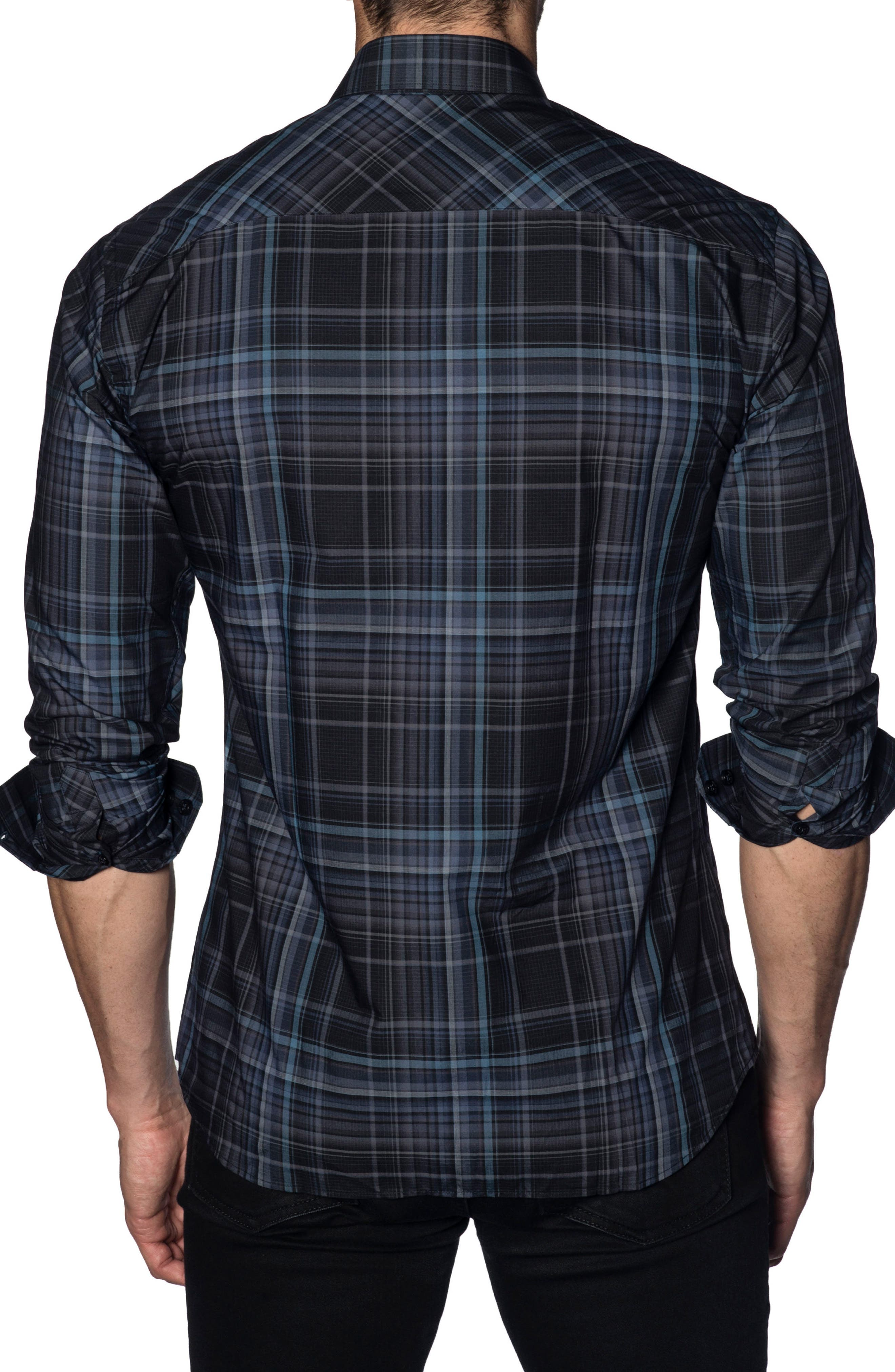 JARED LANG,                             Trim Fit Sport Shirt,                             Alternate thumbnail 2, color,                             479