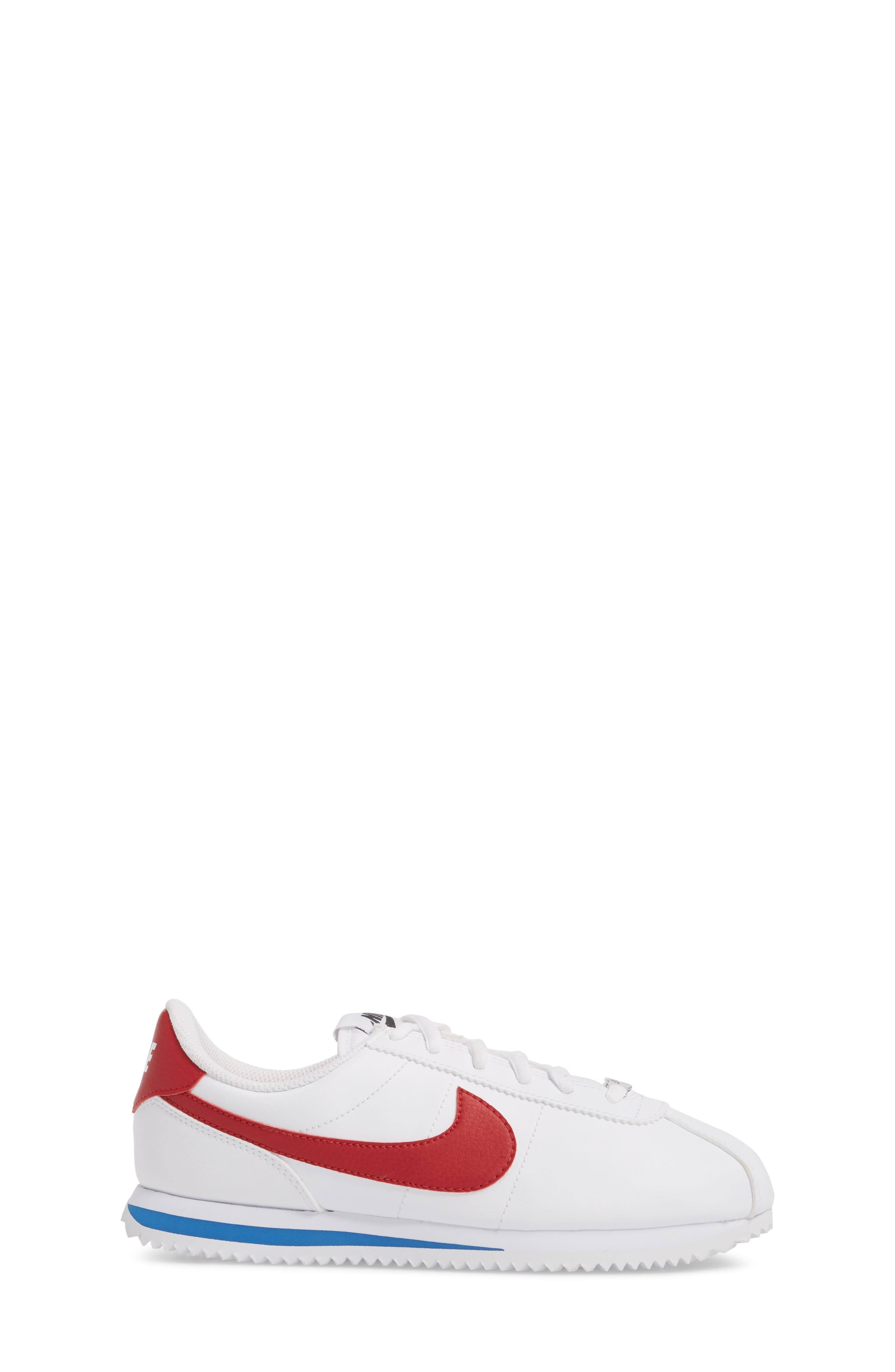 Cortez Basic SL Sneaker,                             Alternate thumbnail 3, color,                             WHITE/ VARSITY RED-ROYAL-BLACK