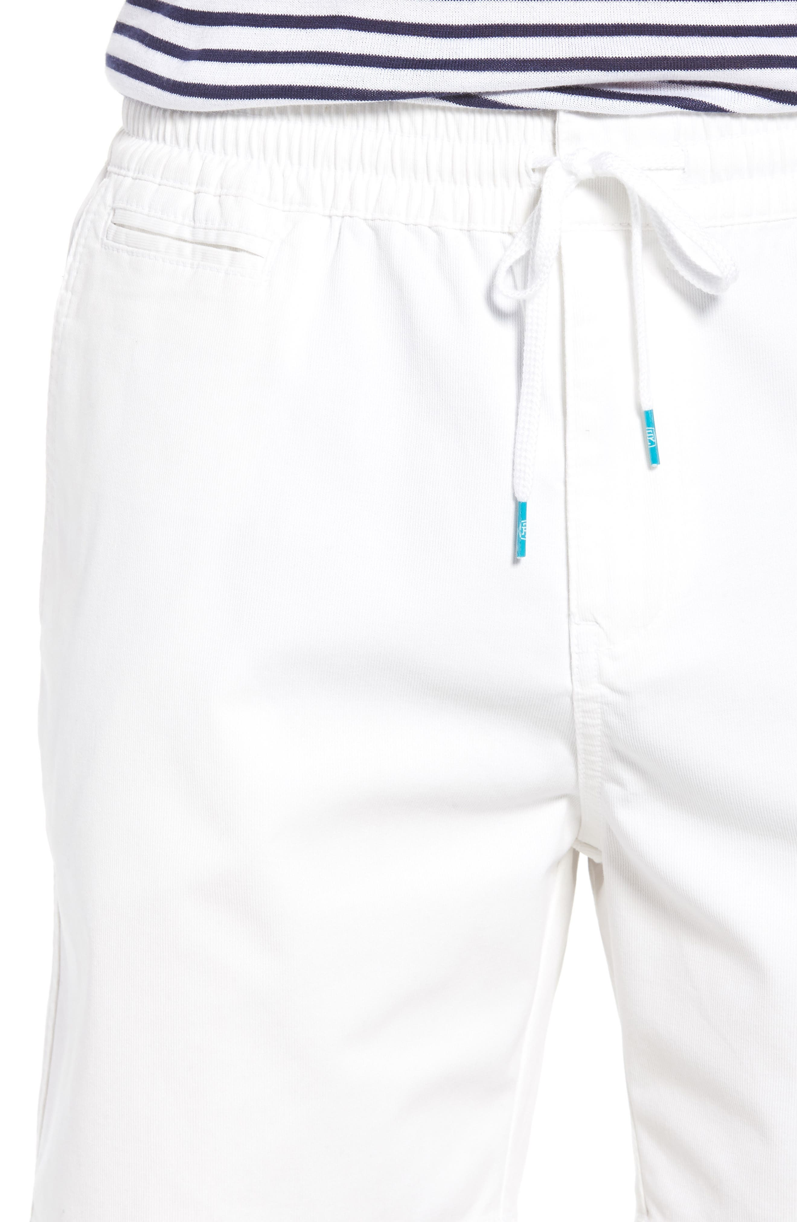 Drawstring Bedford Corduroy Shorts,                             Alternate thumbnail 4, color,                             100