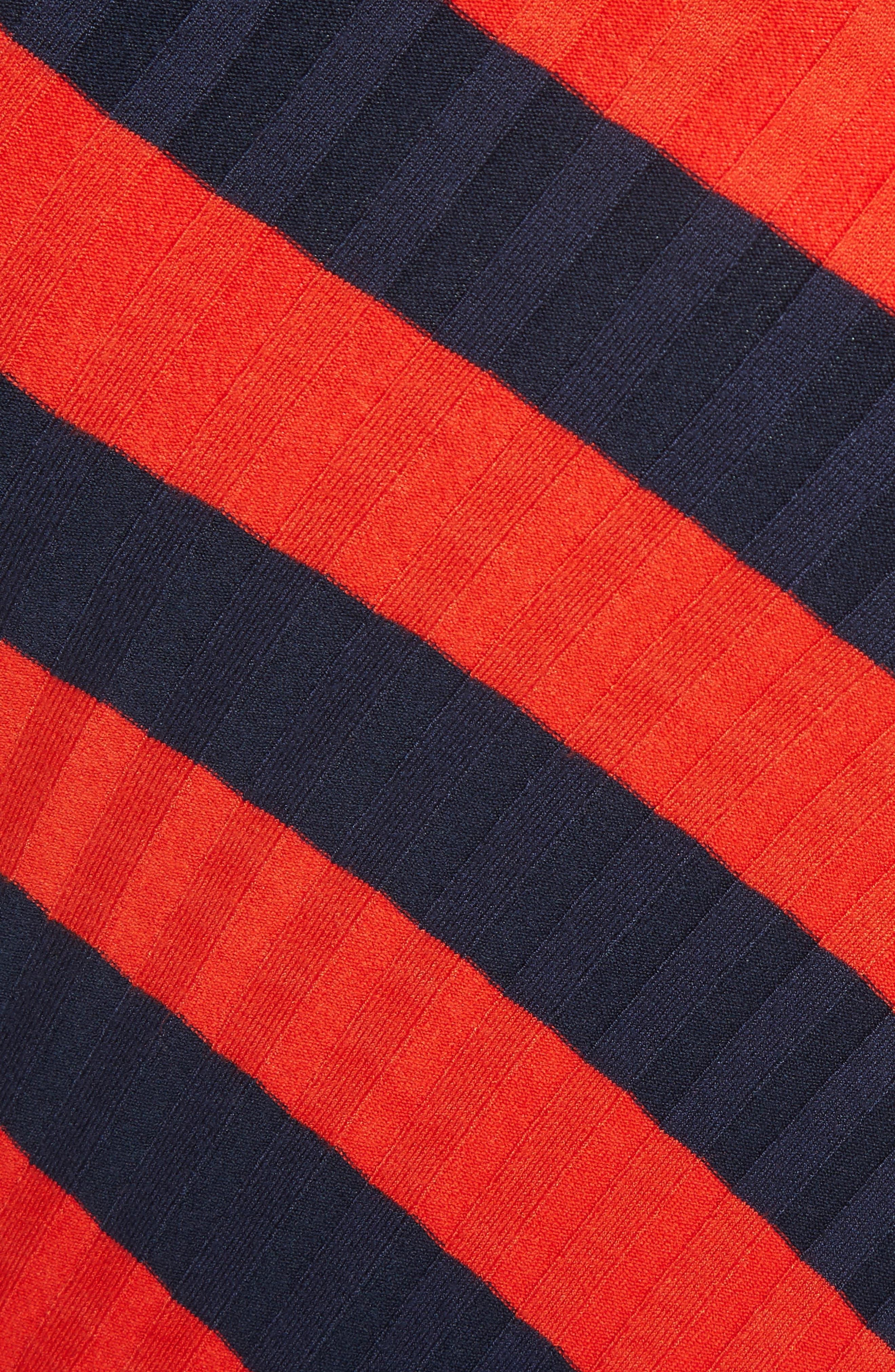 Asymmetrical Stripe Midi Skirt,                             Alternate thumbnail 5, color,                             830