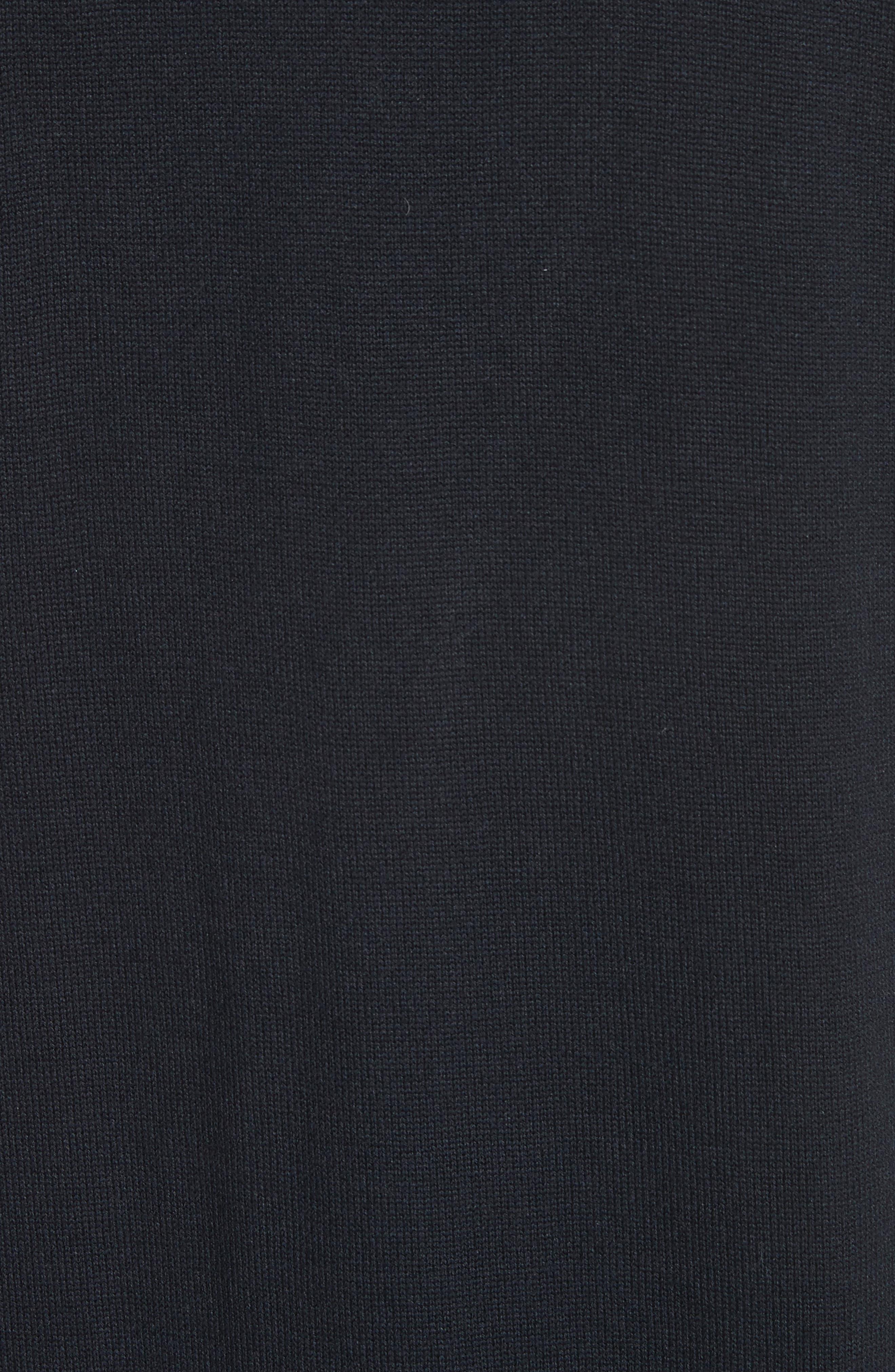 Pleat Ruffle Trim Cardigan,                             Alternate thumbnail 5, color,                             001