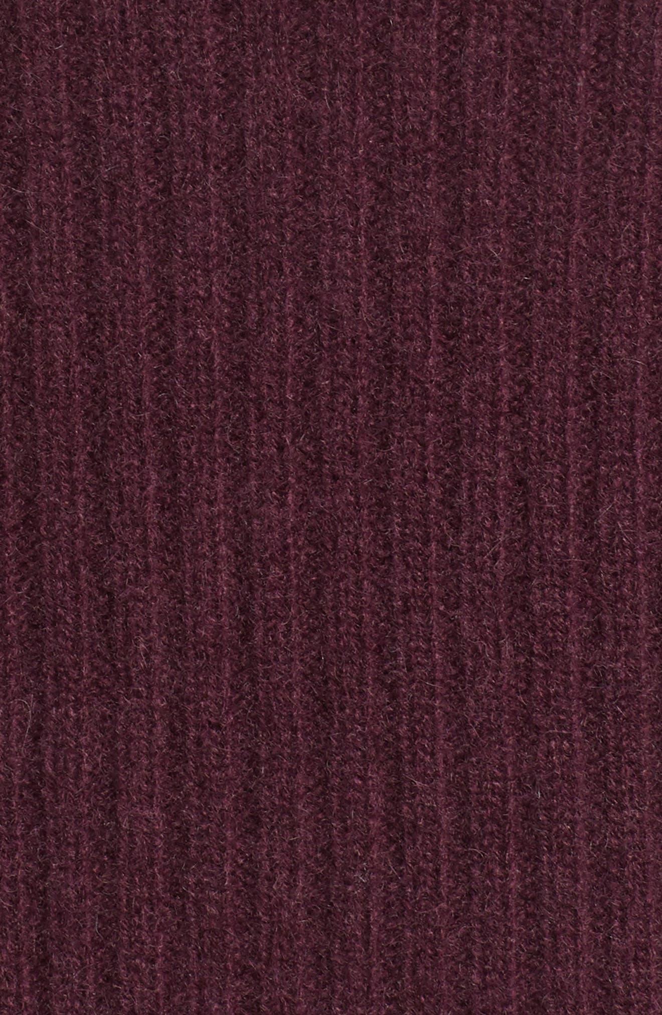 Long Ribbed Cashmere Cardigan,                             Alternate thumbnail 26, color,