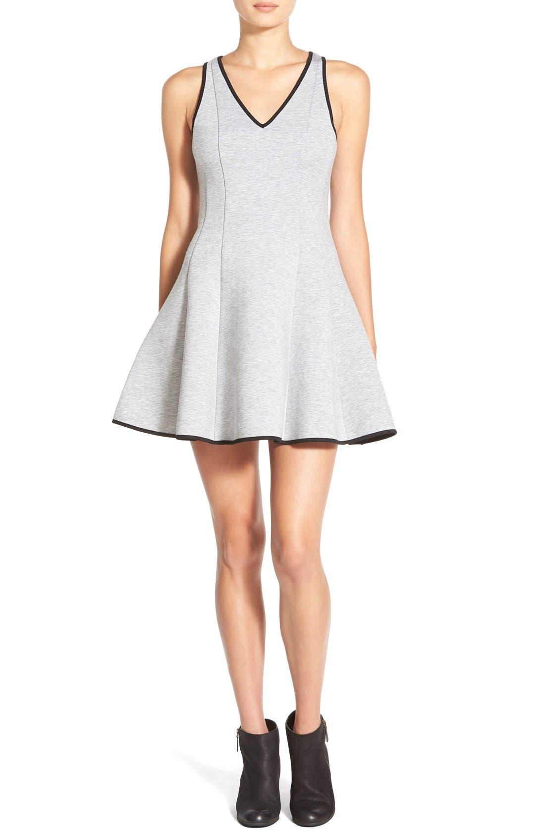 ModisteDresses Knit Fit & Flare Dress,                             Main thumbnail 1, color,                             020