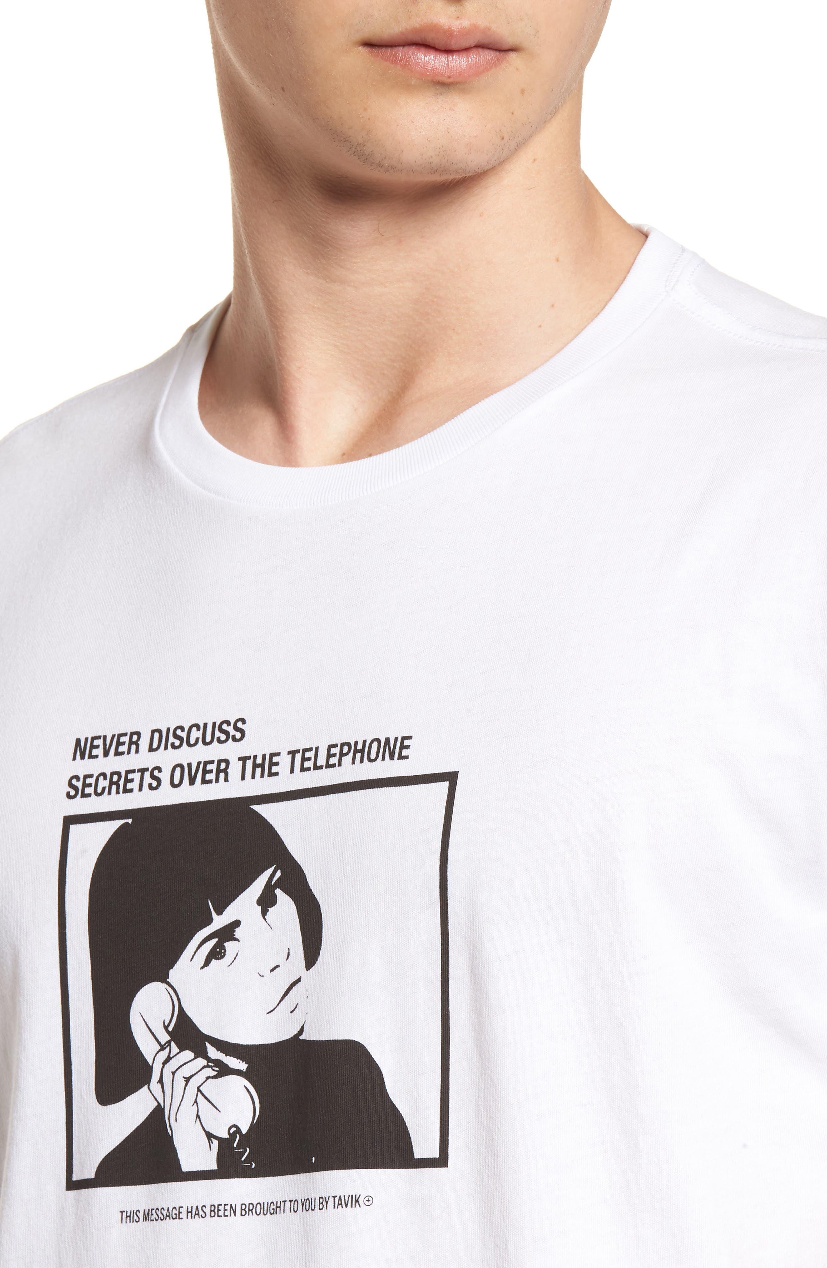 Secret Machine T-Shirt,                             Alternate thumbnail 4, color,                             WHITE