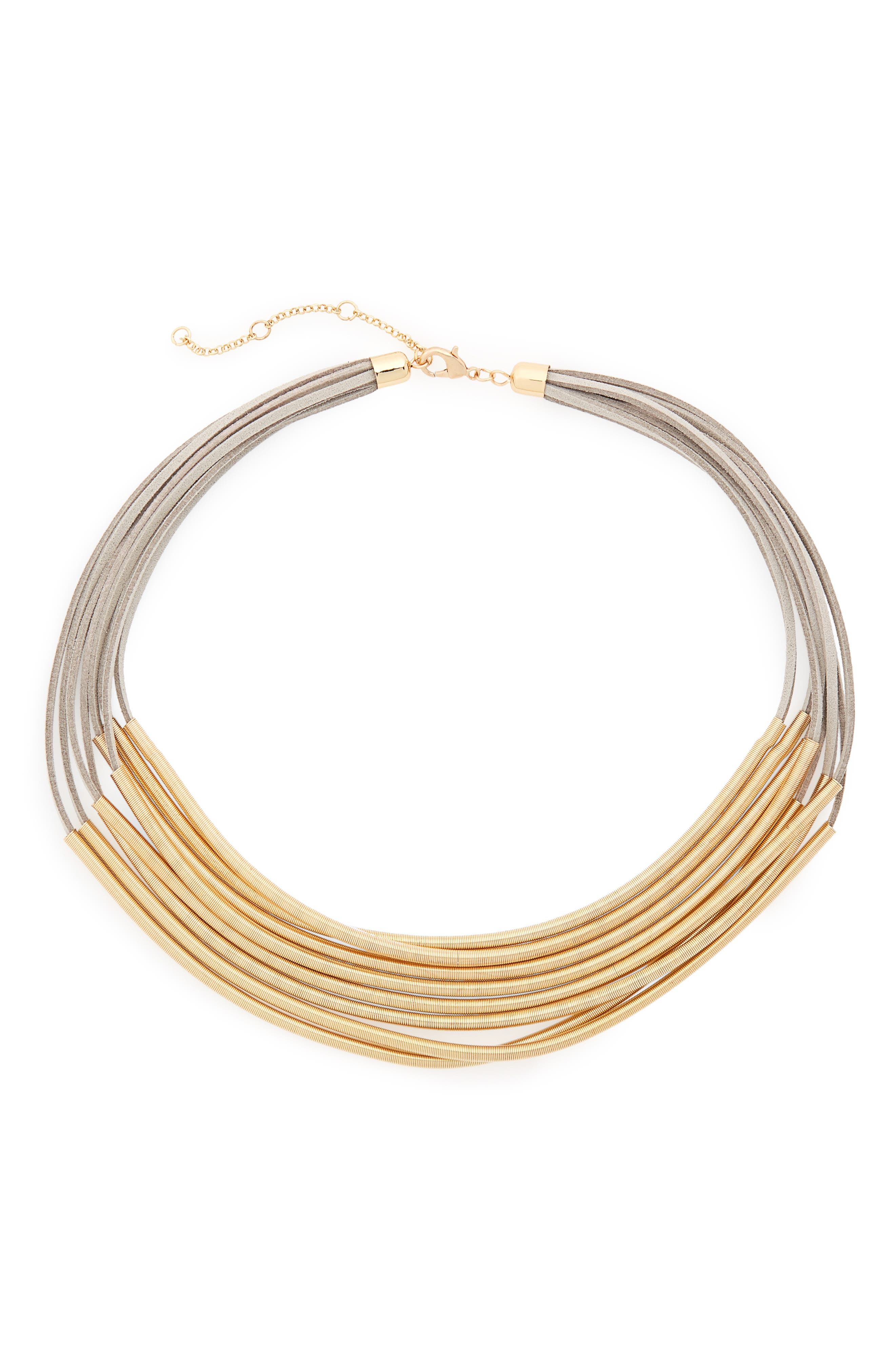 Coil Collar Necklace,                         Main,                         color,