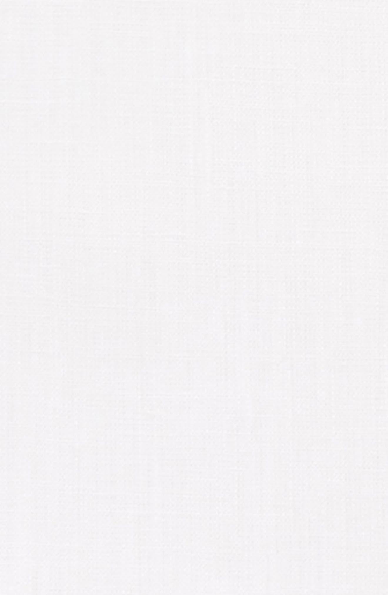 Solid Linen Pocket Square,                             Alternate thumbnail 3, color,                             WHITE/ STONE