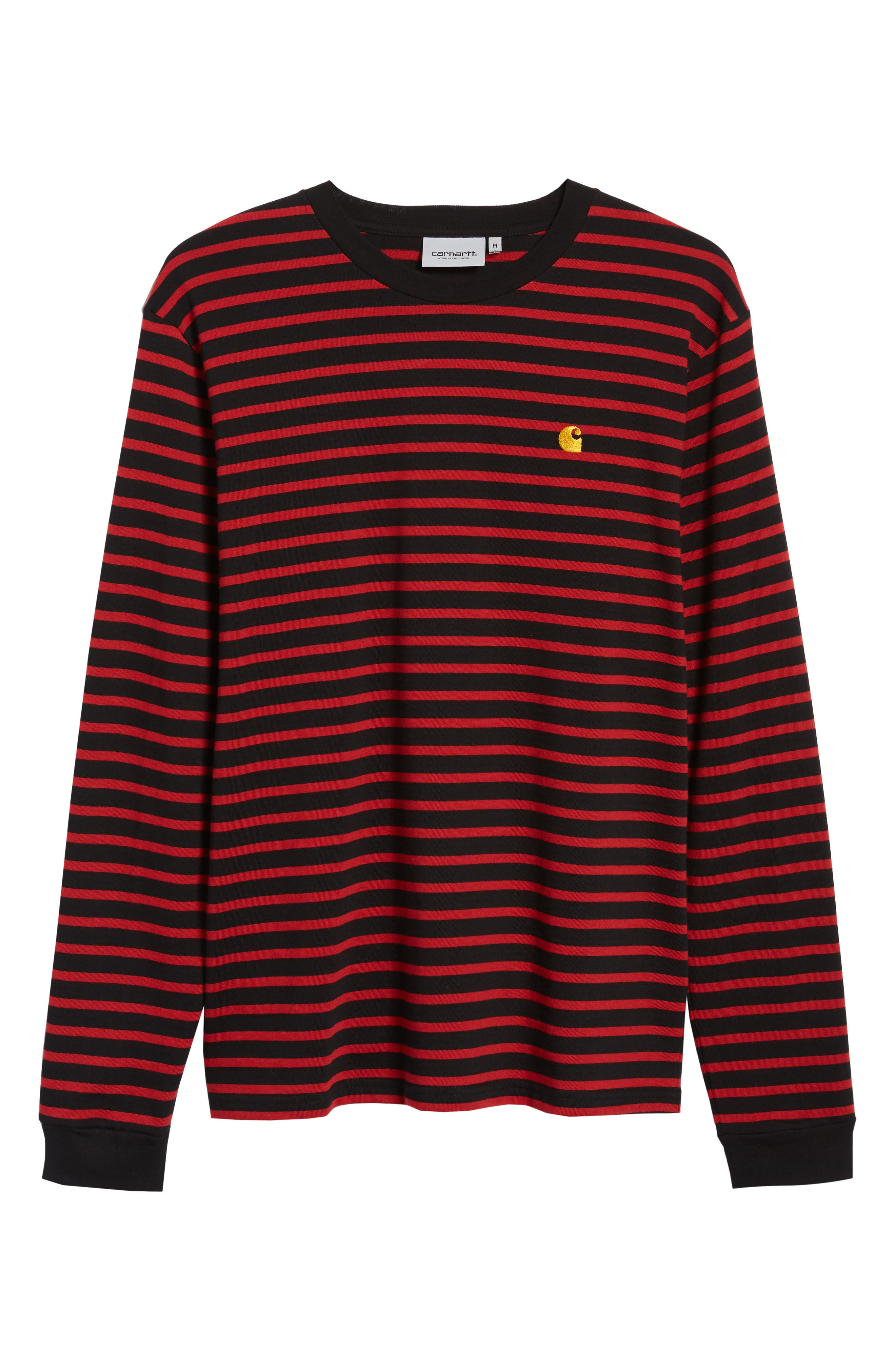 Long Sleeve Robie T-Shirt,                             Alternate thumbnail 5, color,                             BLACK/BLAST RED/QUINCE