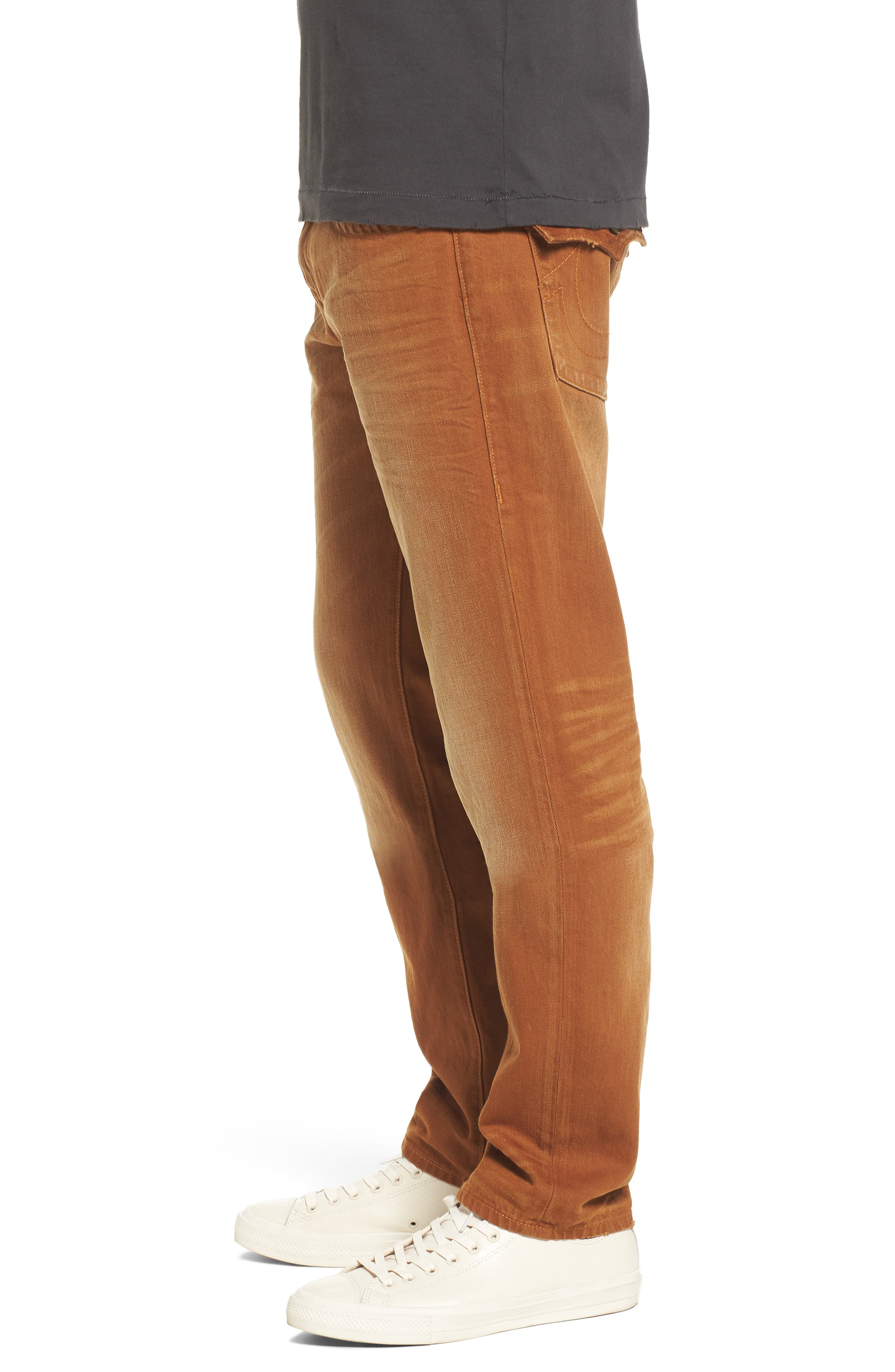 Geno Straight Fit Jeans,                             Alternate thumbnail 3, color,                             GOLDEN ROAD