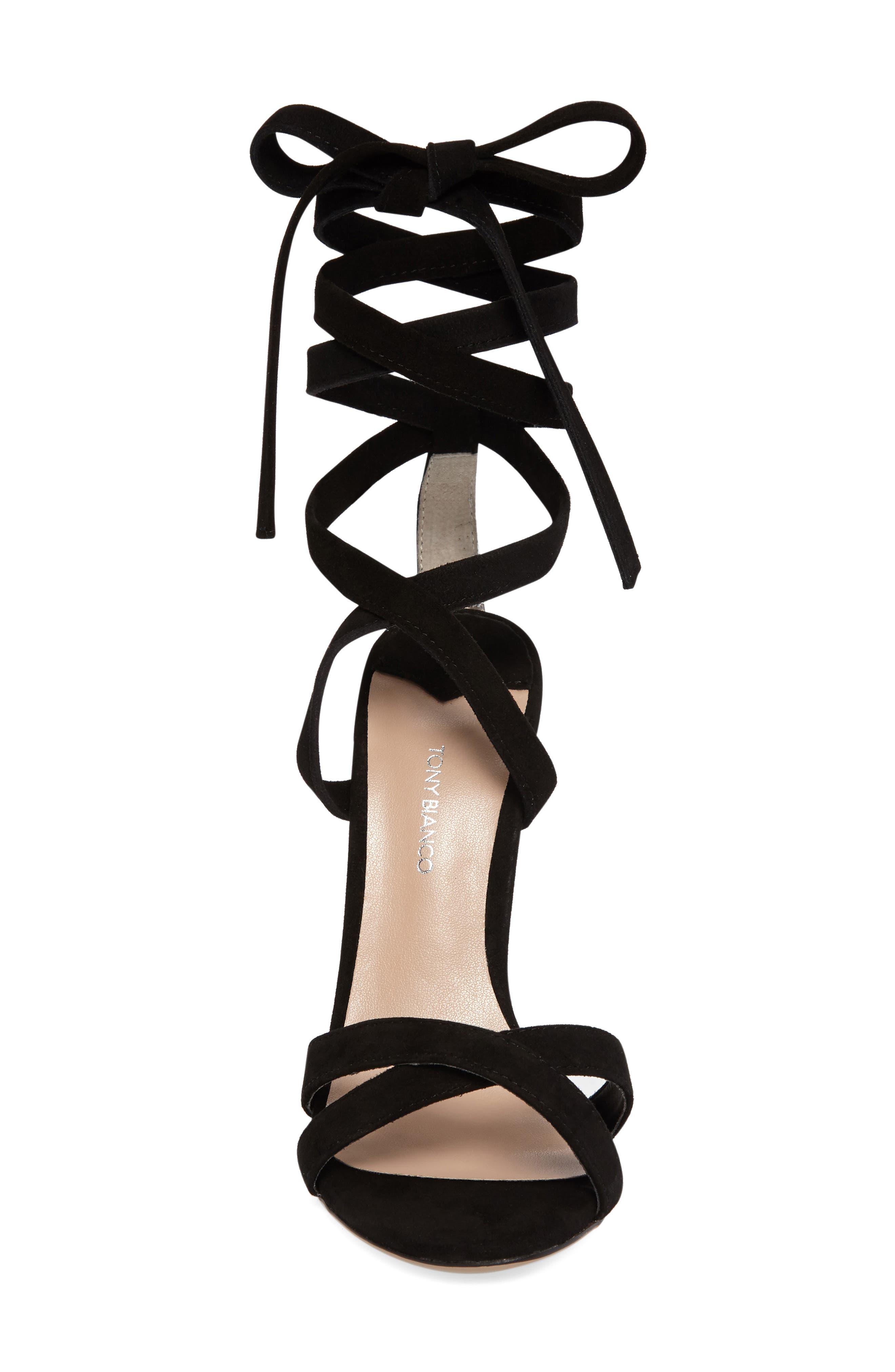 Komma Translucent Heel Sandal,                             Alternate thumbnail 3, color,                             001