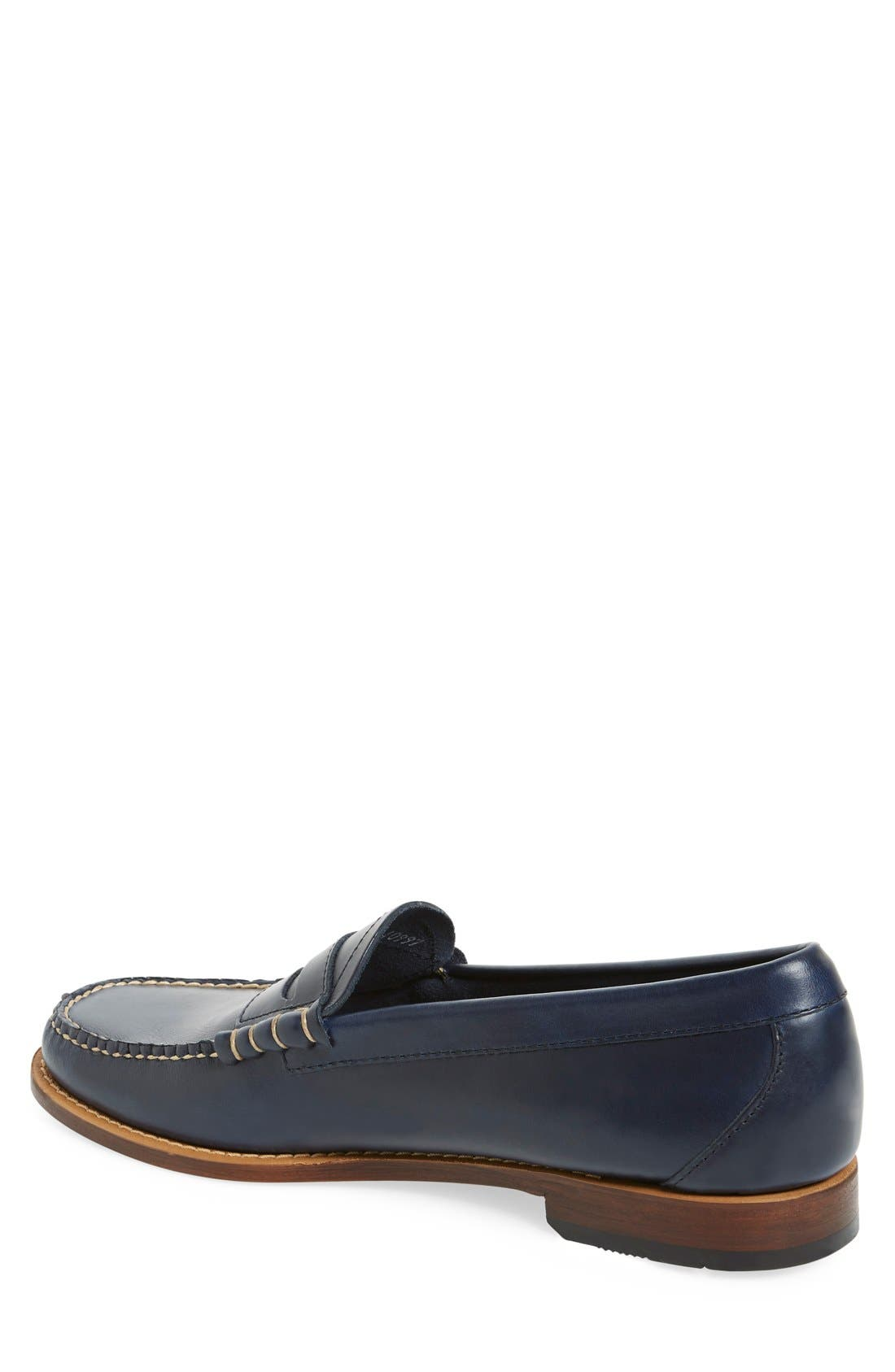 'Larson - Weejuns' Penny Loafer,                             Alternate thumbnail 2, color,                             BLUE LEATHER