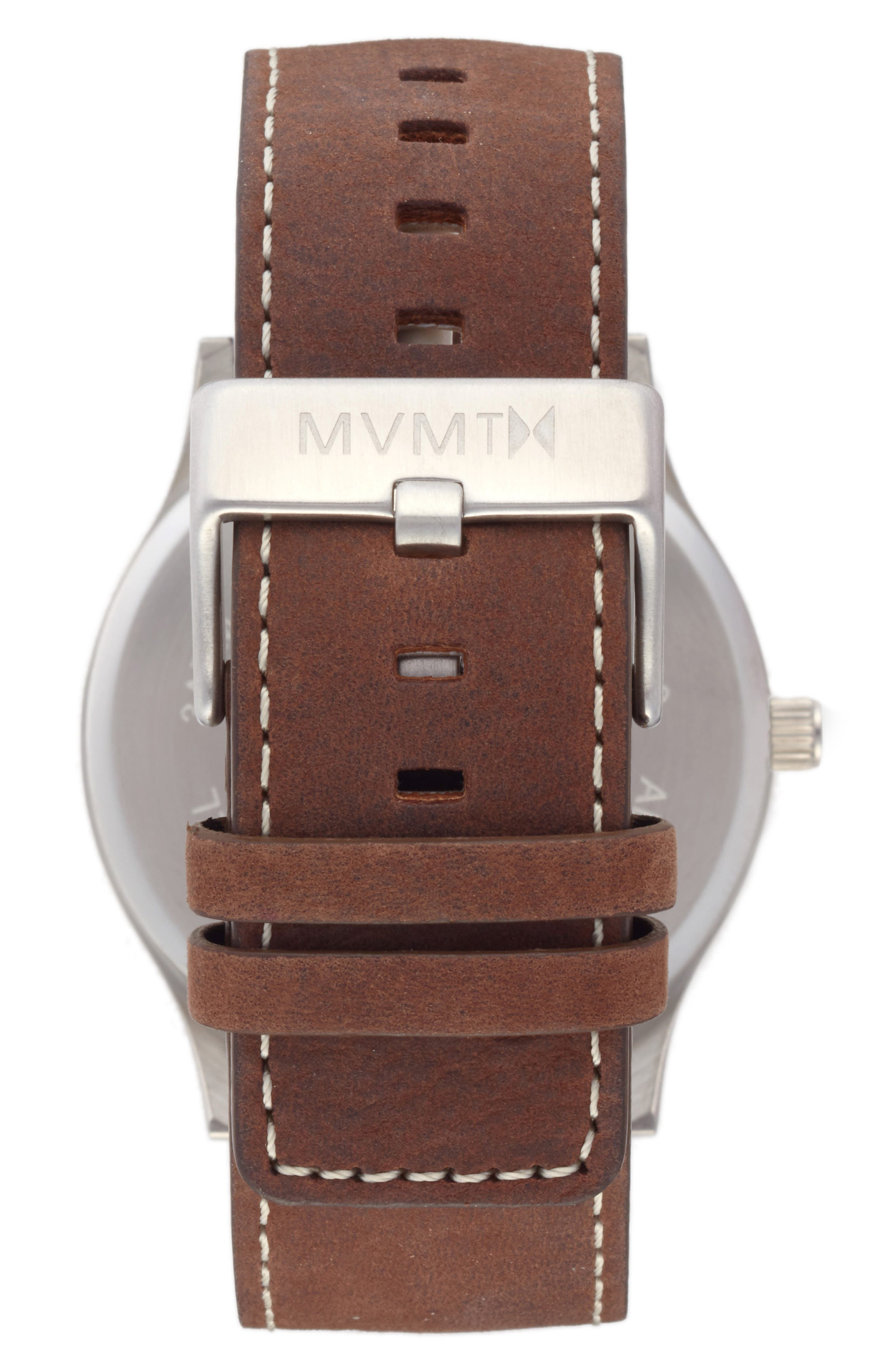 MVMT,                             The Classic Leather Strap Watch, 45mm,                             Alternate thumbnail 2, color,                             200