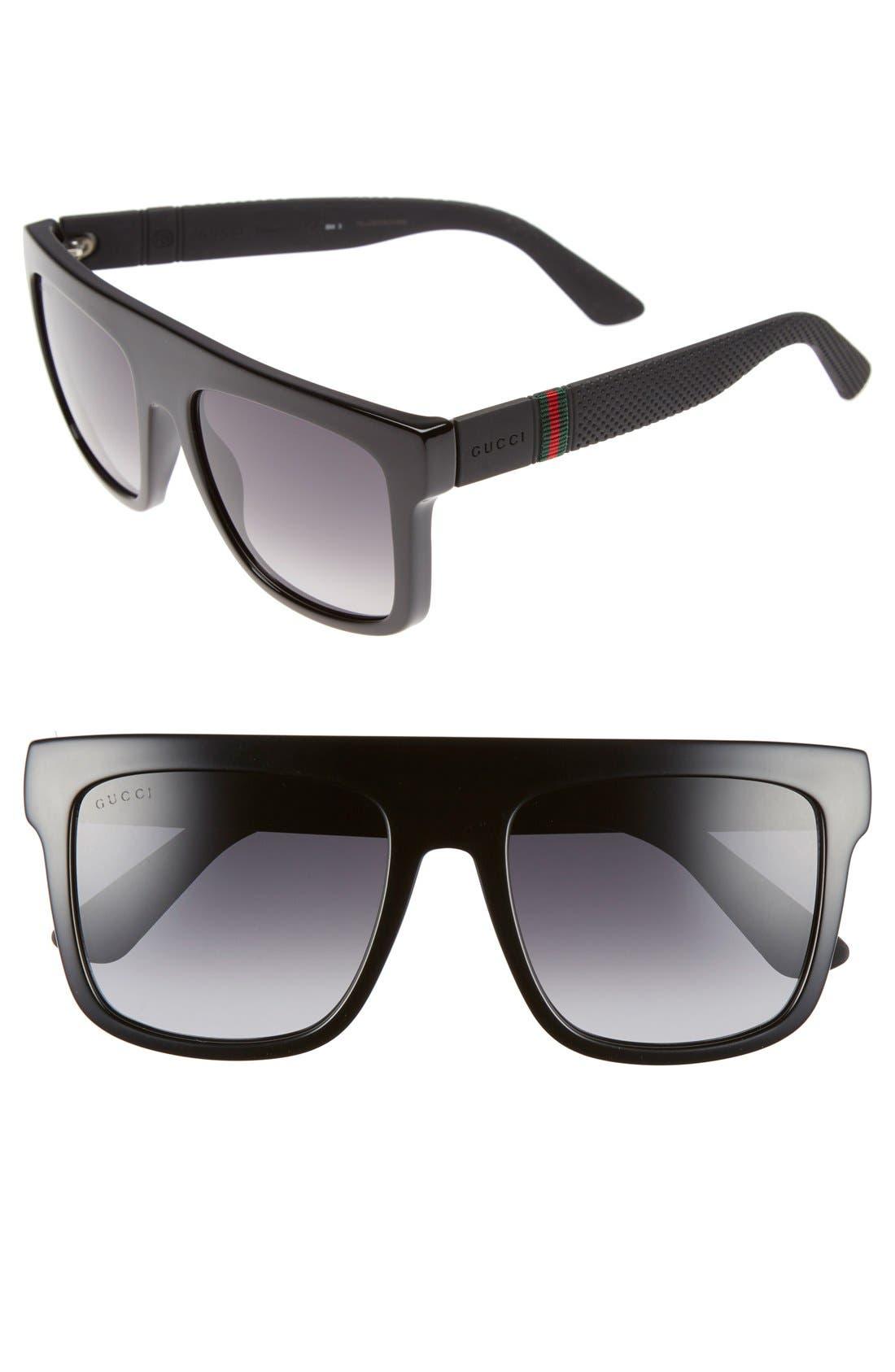 55mm Sunglasses,                             Main thumbnail 1, color,                             001