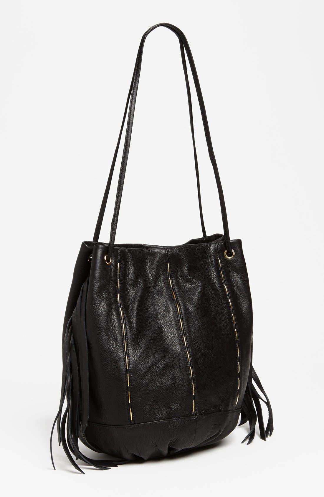 KELSI DAGGER BROOKLYN Kelsi Dagger 'Charlie' Drawstring Bag, Main, color, 001