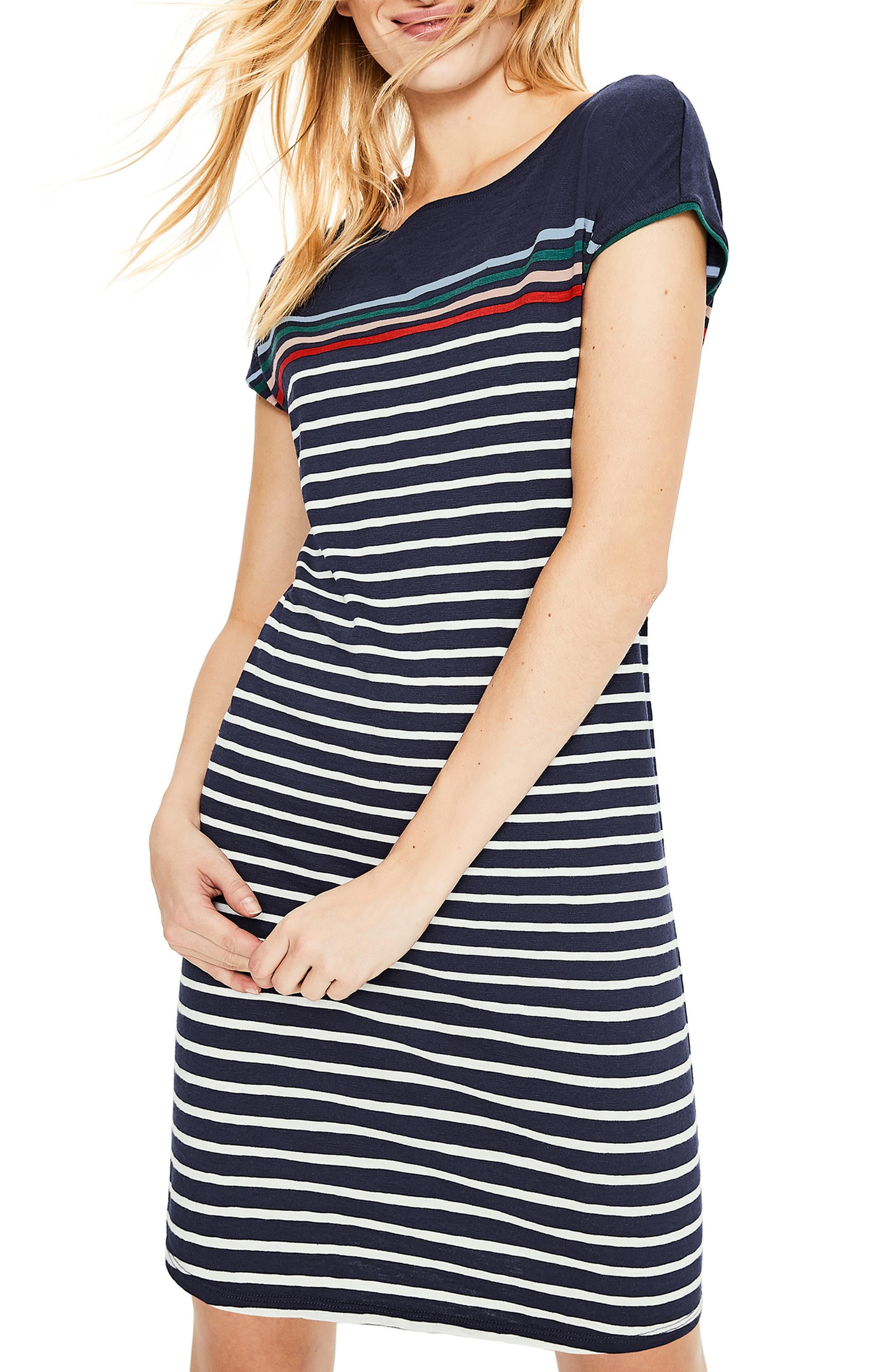 Petite Boden Pauline T-Shirt Dress, Blue
