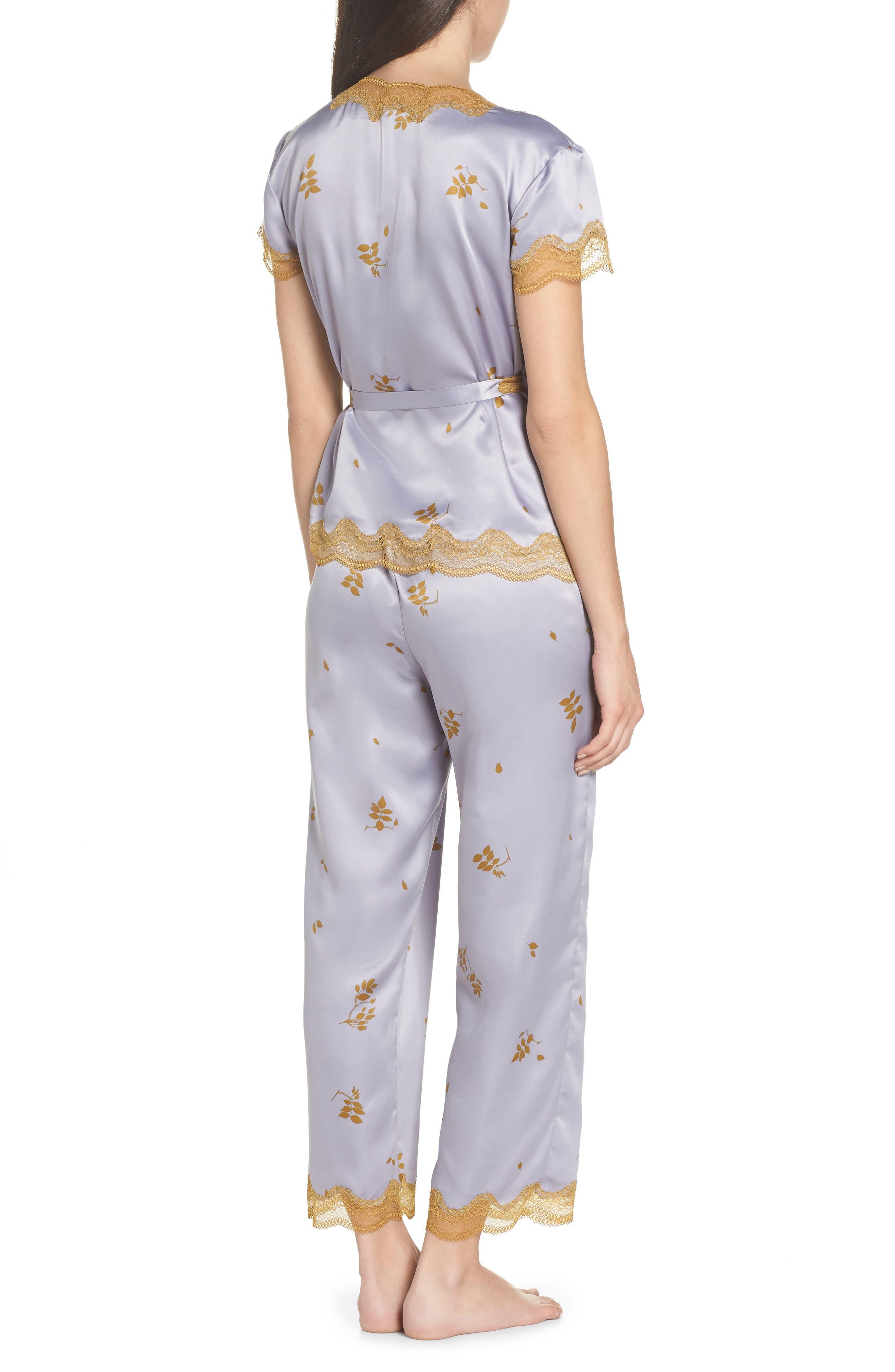 Colette Pajamas,                             Alternate thumbnail 2, color,                             GREY LILAC FALLING LEAVES