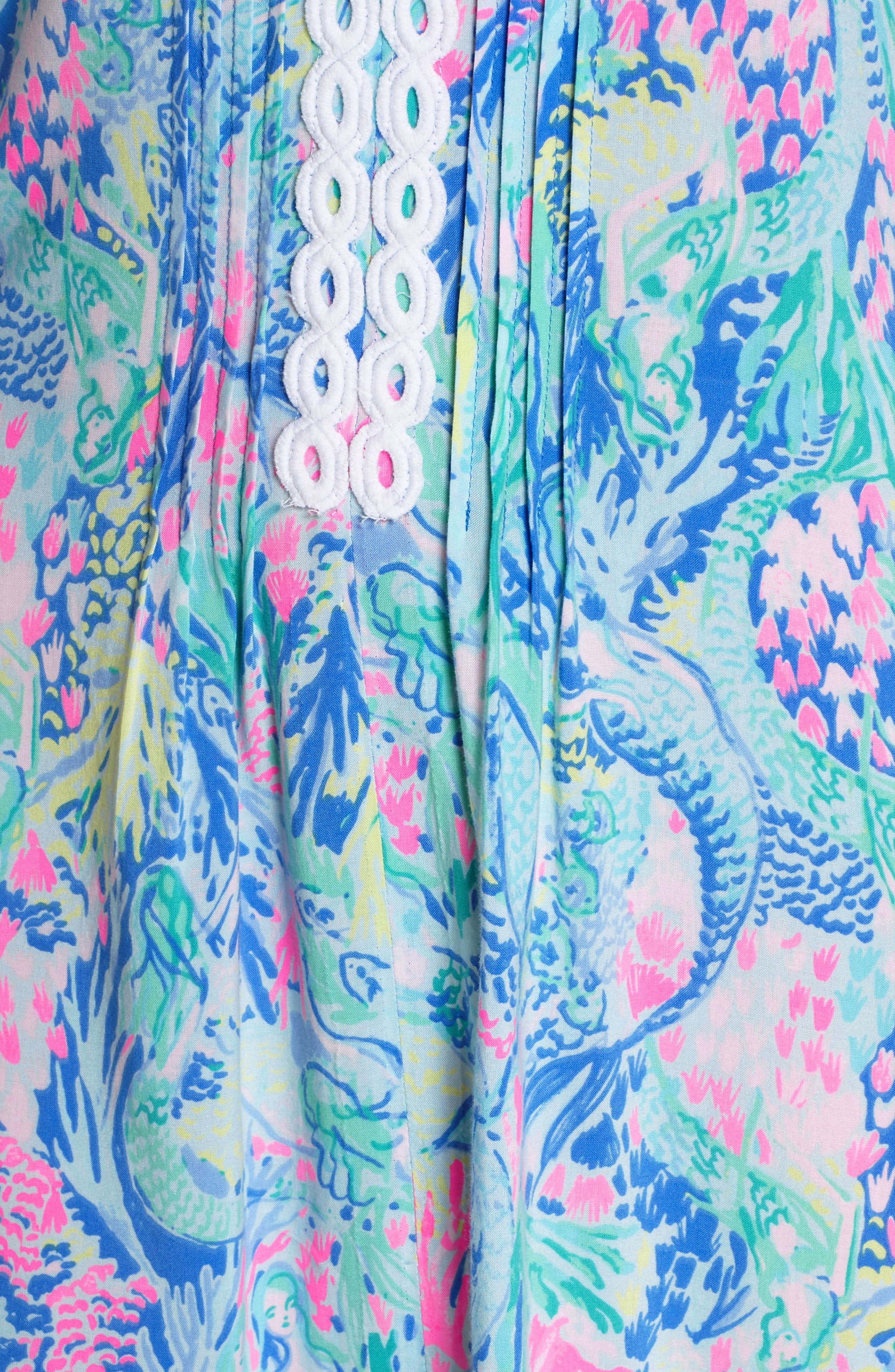 LILLY PULITZER<SUP>®</SUP>,                             Hollie Tunic Dress,                             Alternate thumbnail 6, color,                             MULTI MERMAIDS COVE