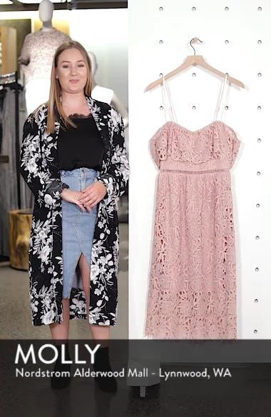 Lace Off the Shoulder Midi Dress, sales video thumbnail