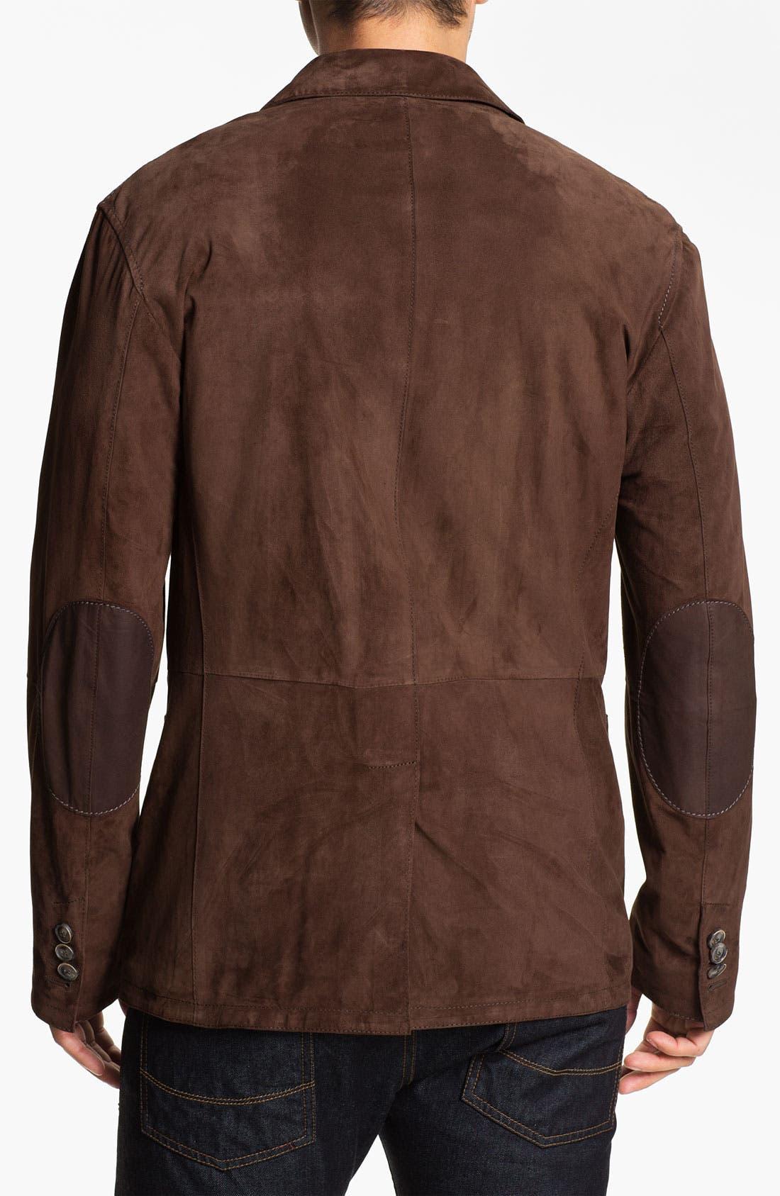 Goatskin Suede Jacket,                             Alternate thumbnail 3, color,                             200