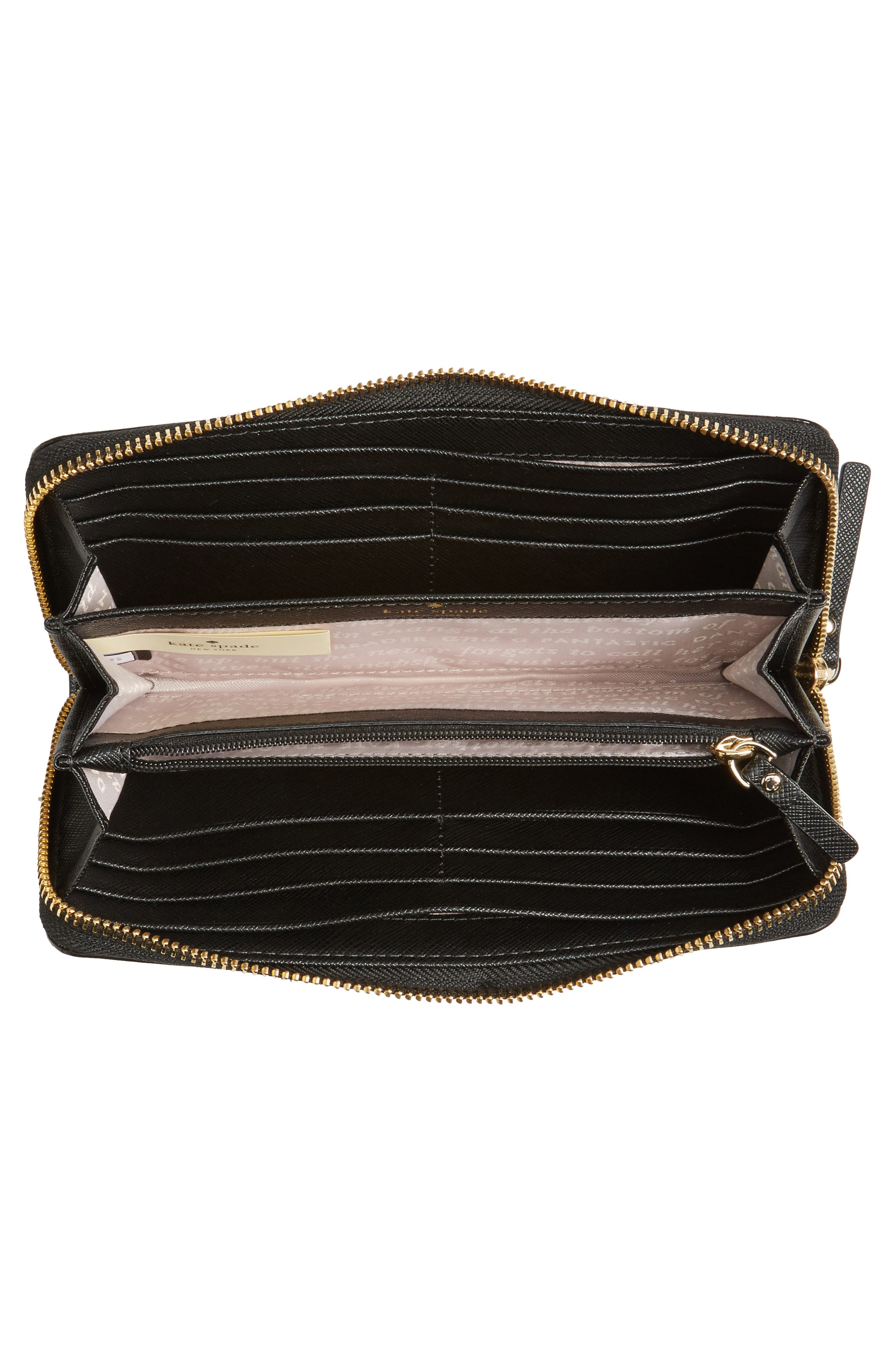 brooks drive - lacey zip around wallet,                             Alternate thumbnail 4, color,                             001