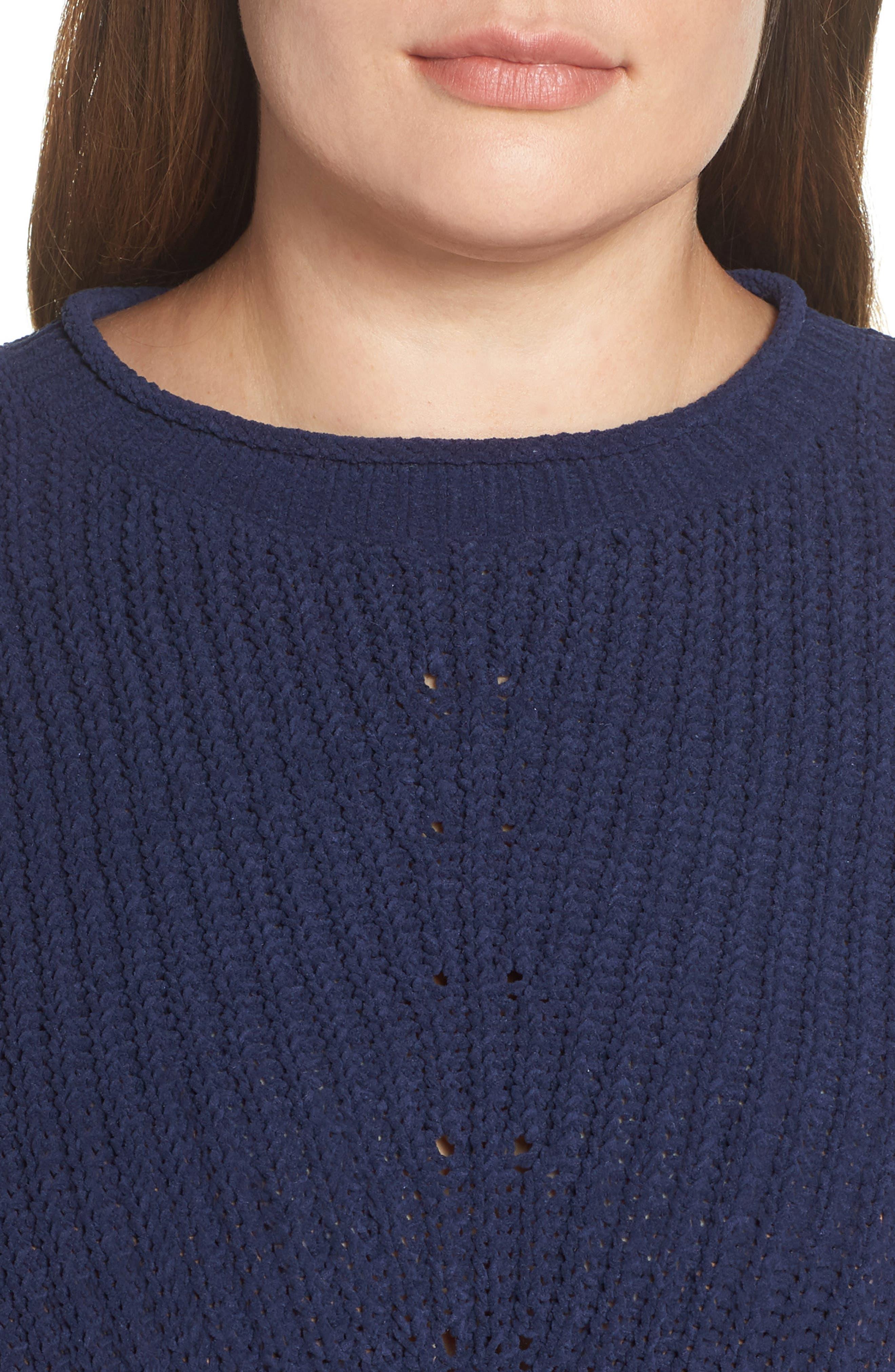 CASLON<SUP>®</SUP>,                             Chenille Crewneck Sweater,                             Alternate thumbnail 4, color,                             401