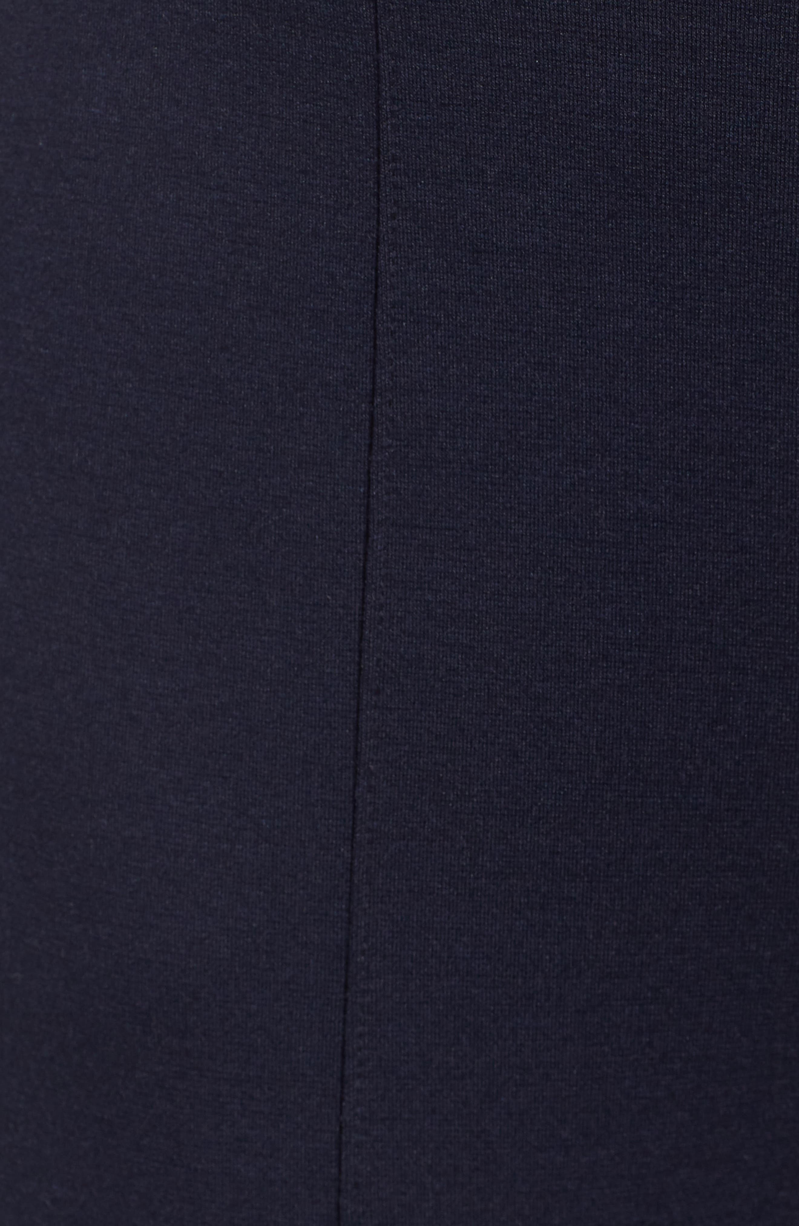 Luxe Seamed Ponte Skimmer Leggings,                             Alternate thumbnail 5, color,                             NAVY