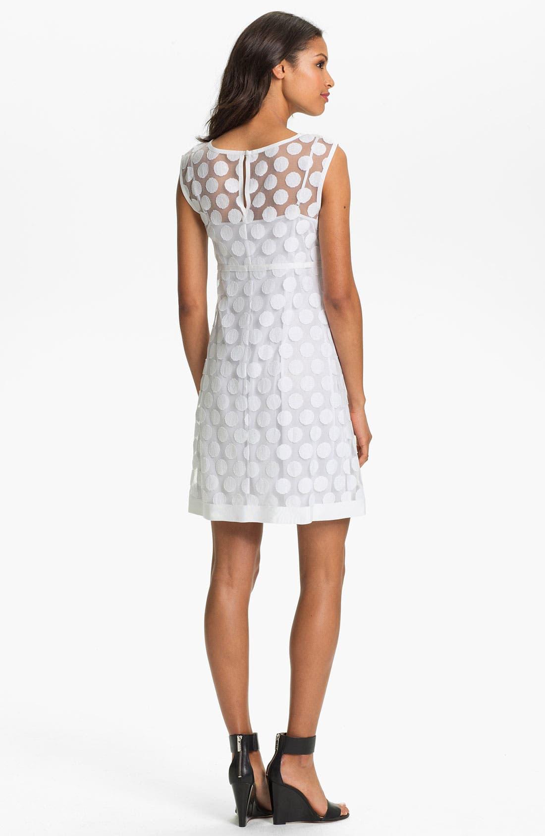 Polka Dot Lace A-Line Dress,                             Alternate thumbnail 2, color,                             140