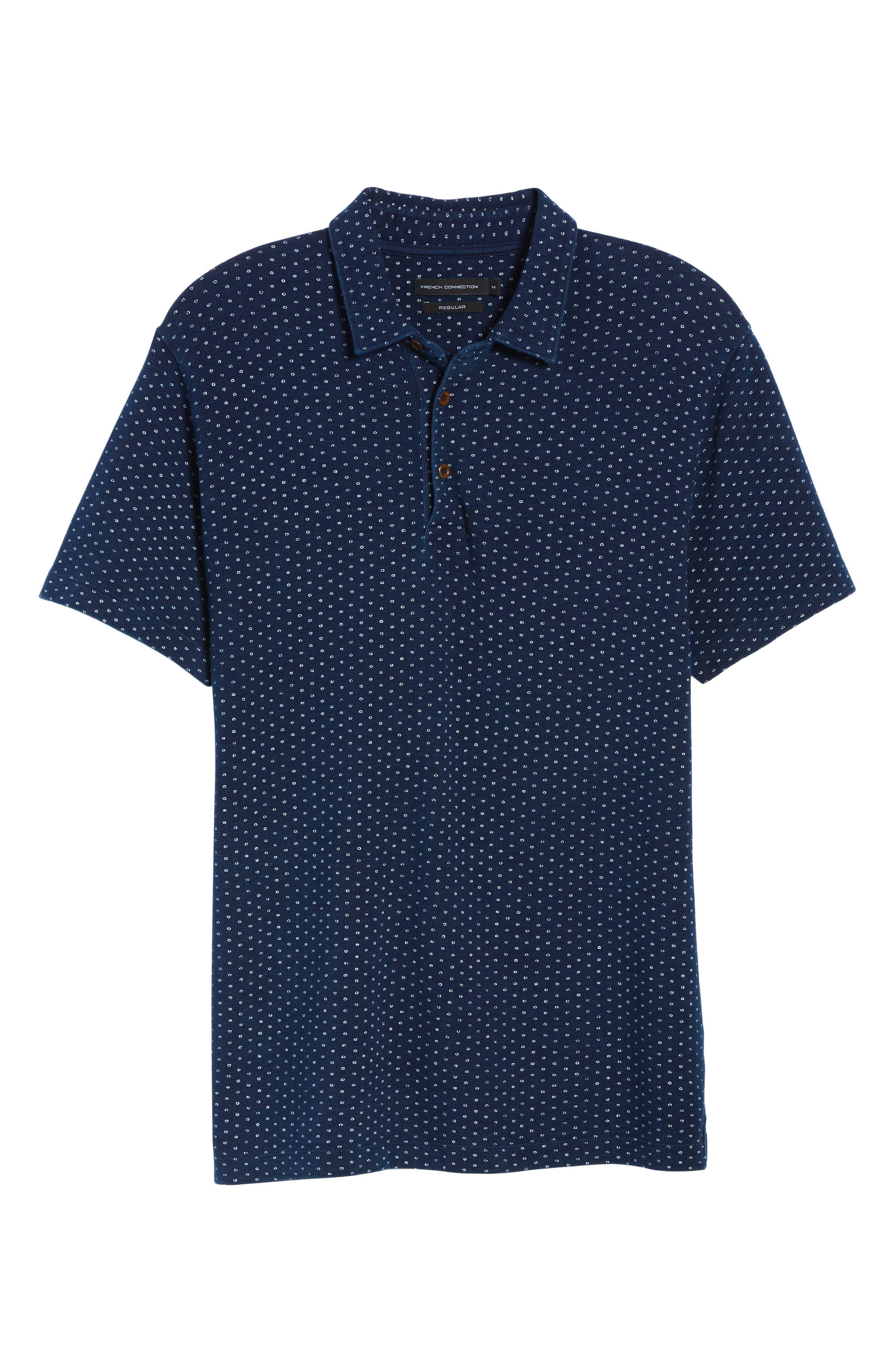Dojo Dot Regular Fit Cotton Polo,                             Alternate thumbnail 6, color,