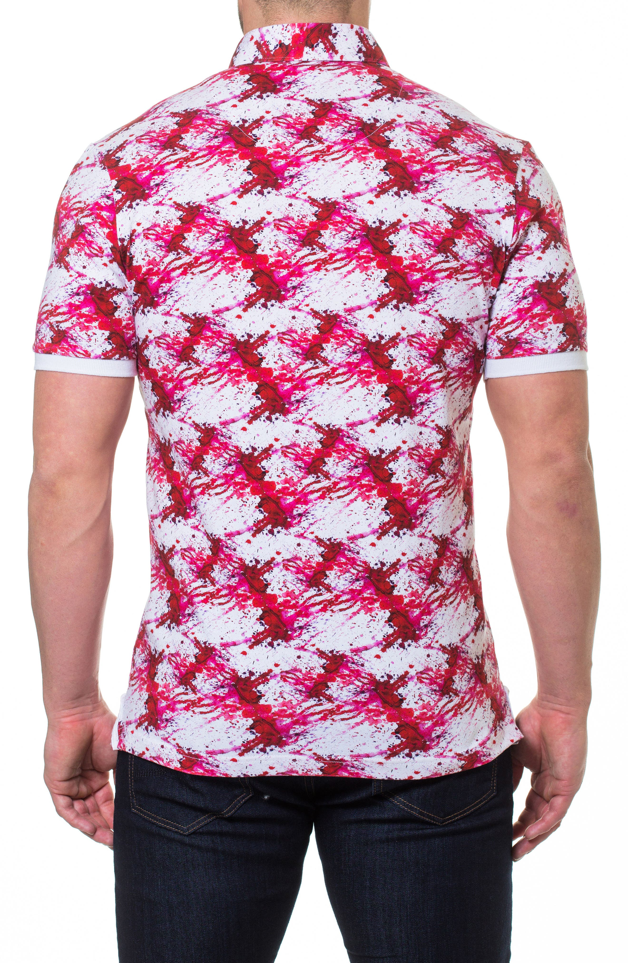 MACEOO,                             Dexter Print Polo,                             Alternate thumbnail 2, color,                             610