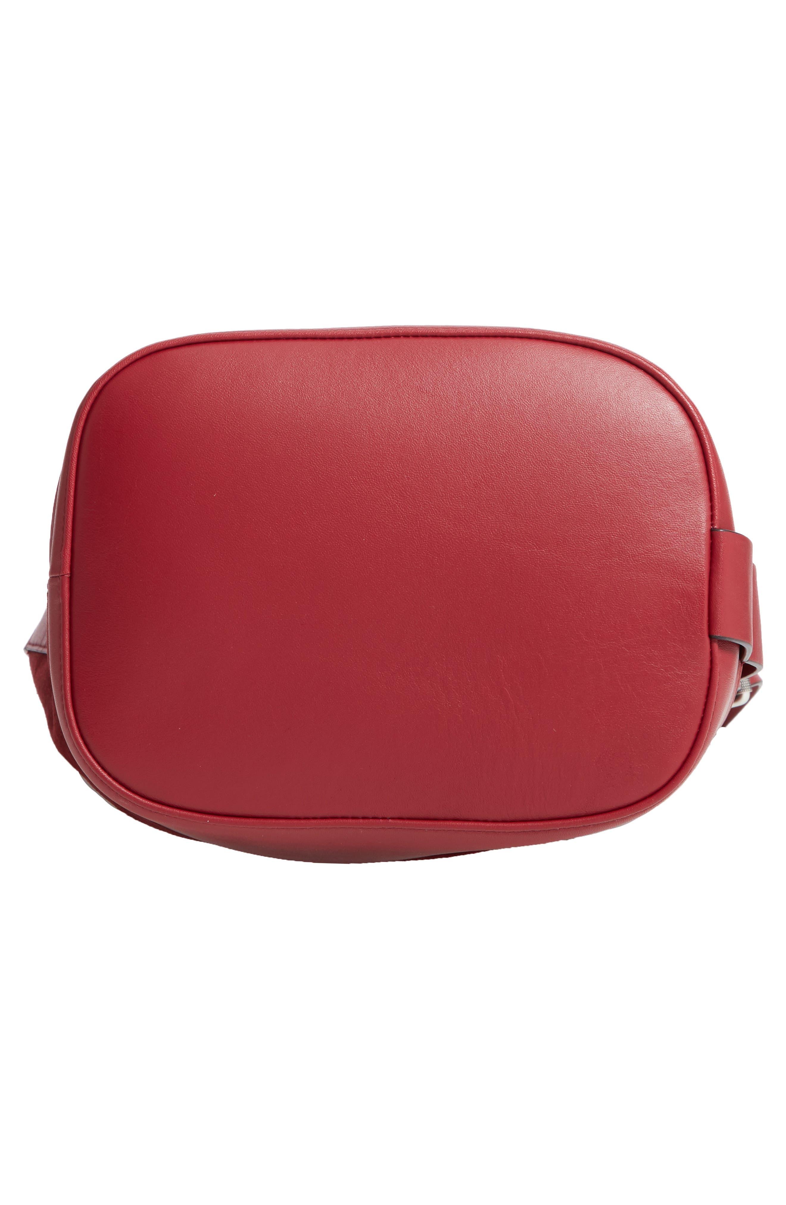 Walker Sling Suede Bucket Bag,                             Alternate thumbnail 7, color,                             BIKING RED MULTI