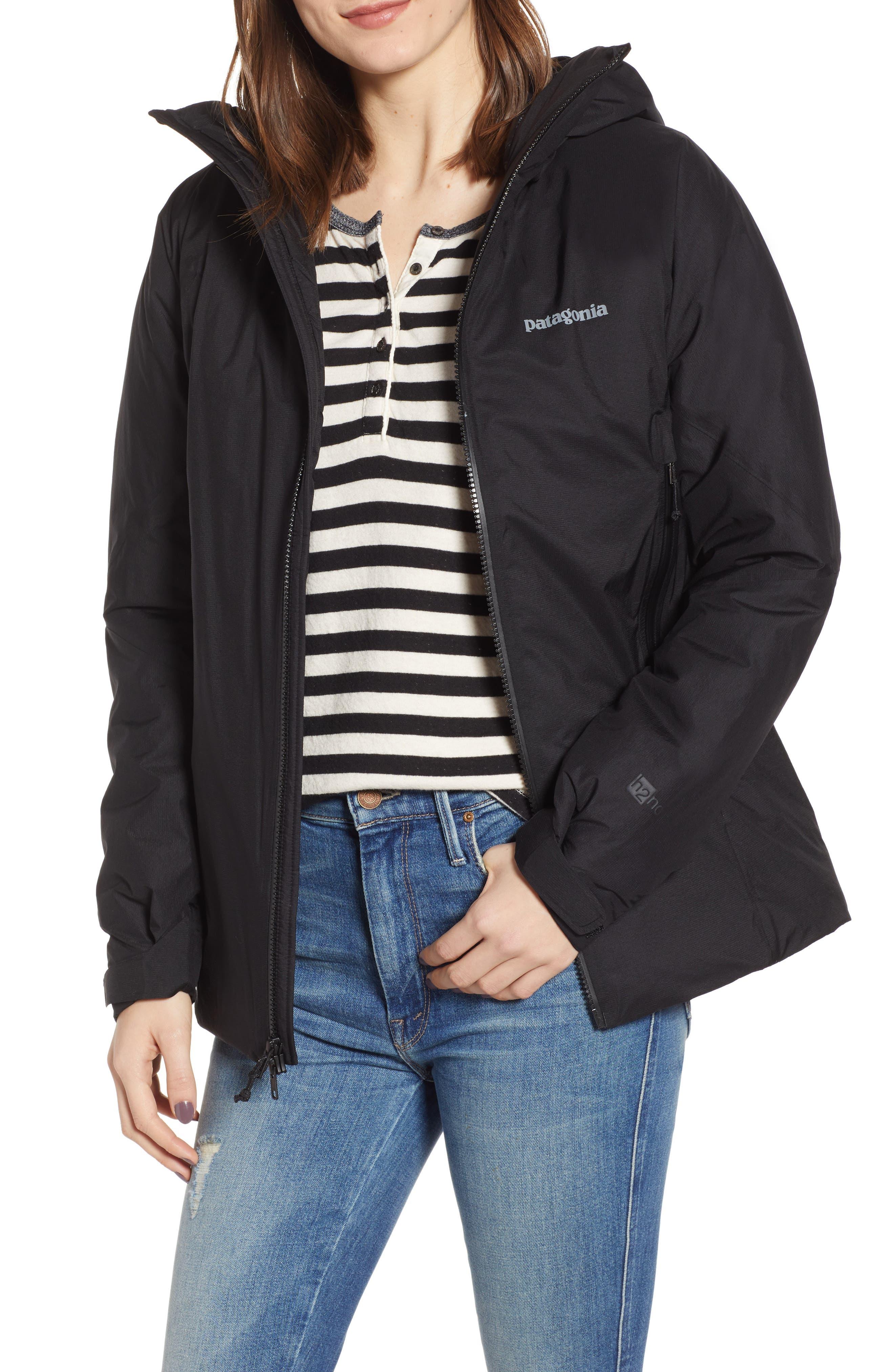 Micro Puff<sup>®</sup> Waterproof Storm Jacket,                         Main,                         color, BLACK