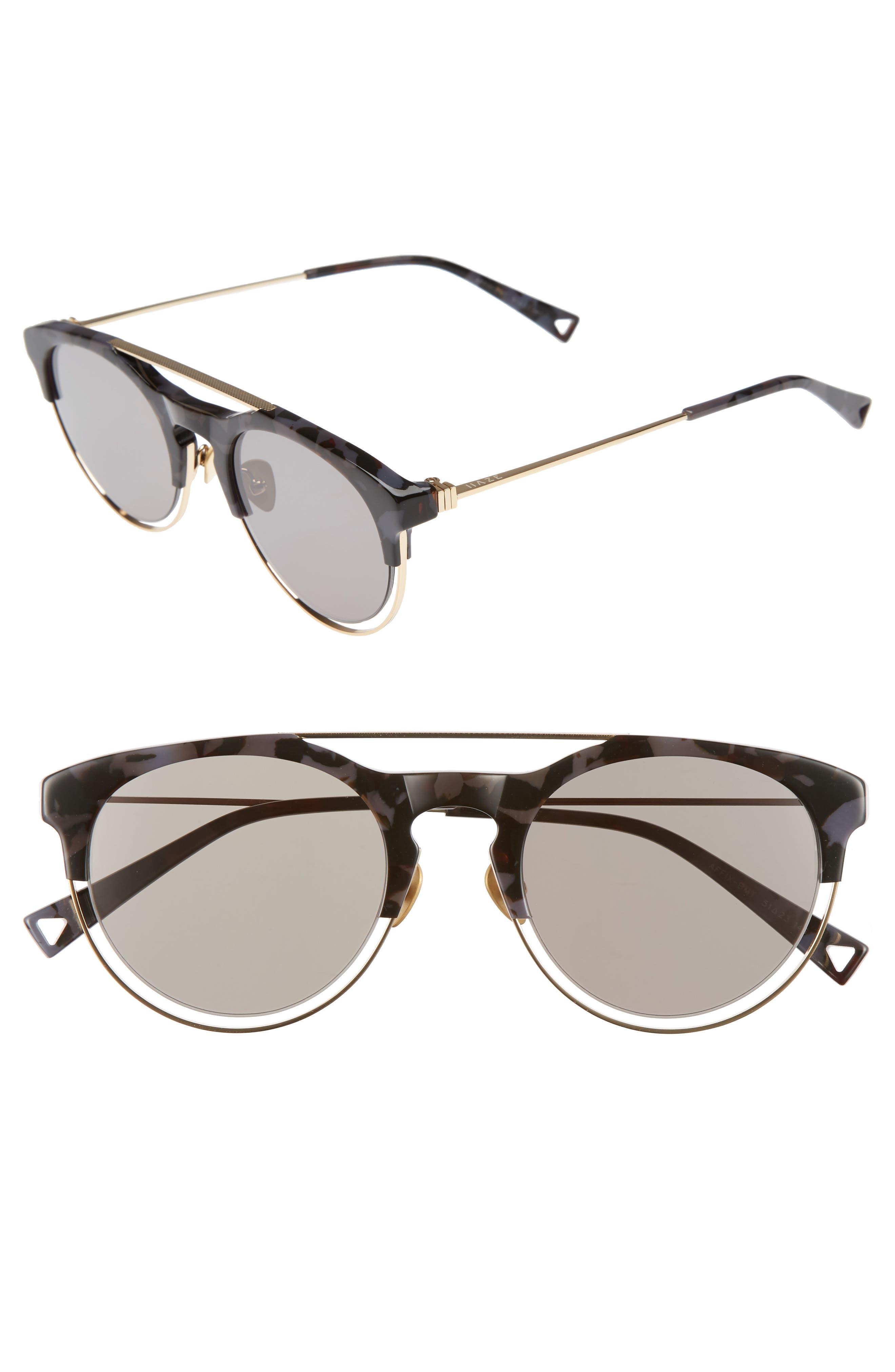 Affix 51mm Round Sunglasses,                         Main,                         color, 020