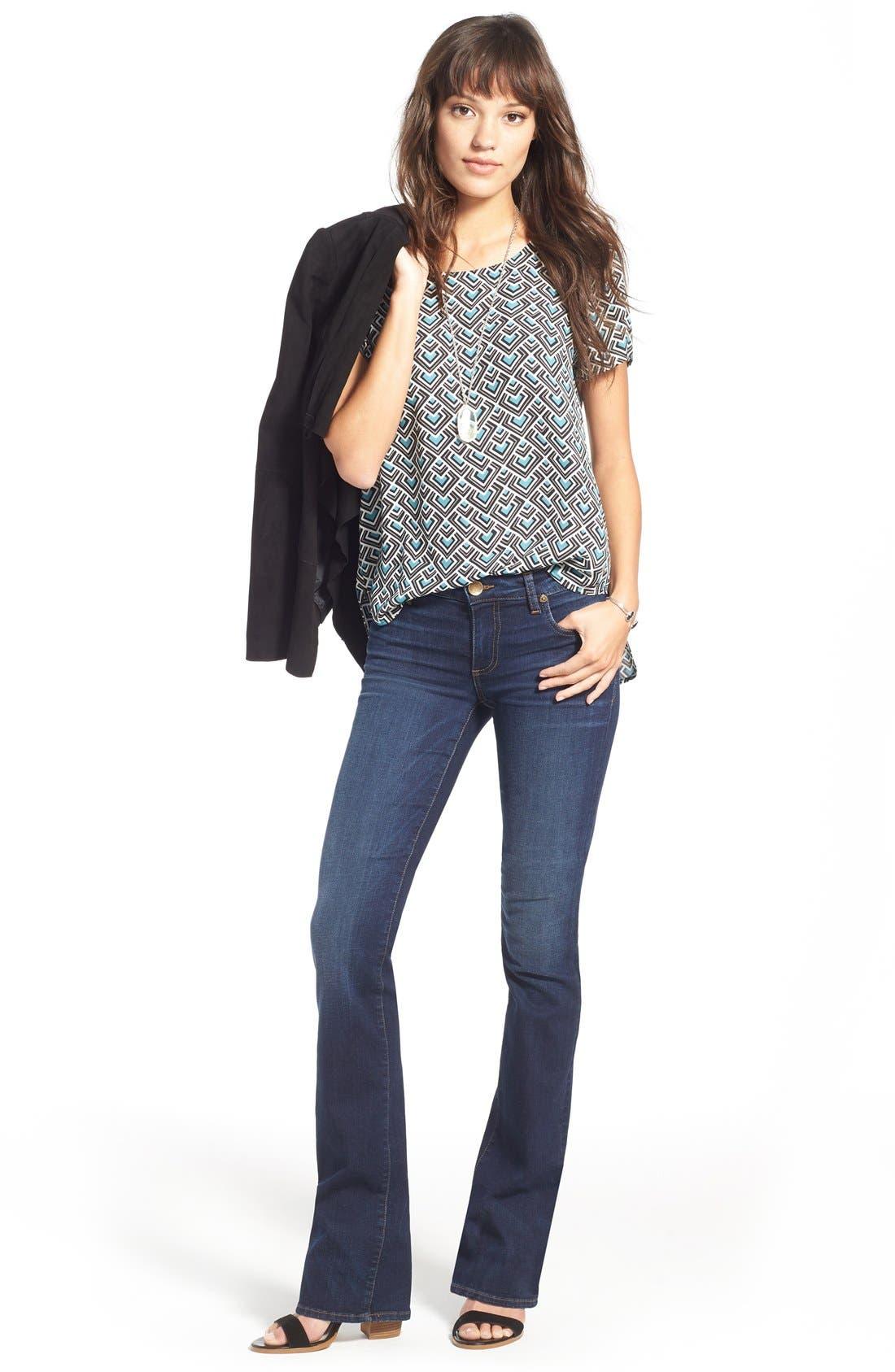 'Natalie' Stretch Bootleg Jeans,                             Alternate thumbnail 2, color,                             401