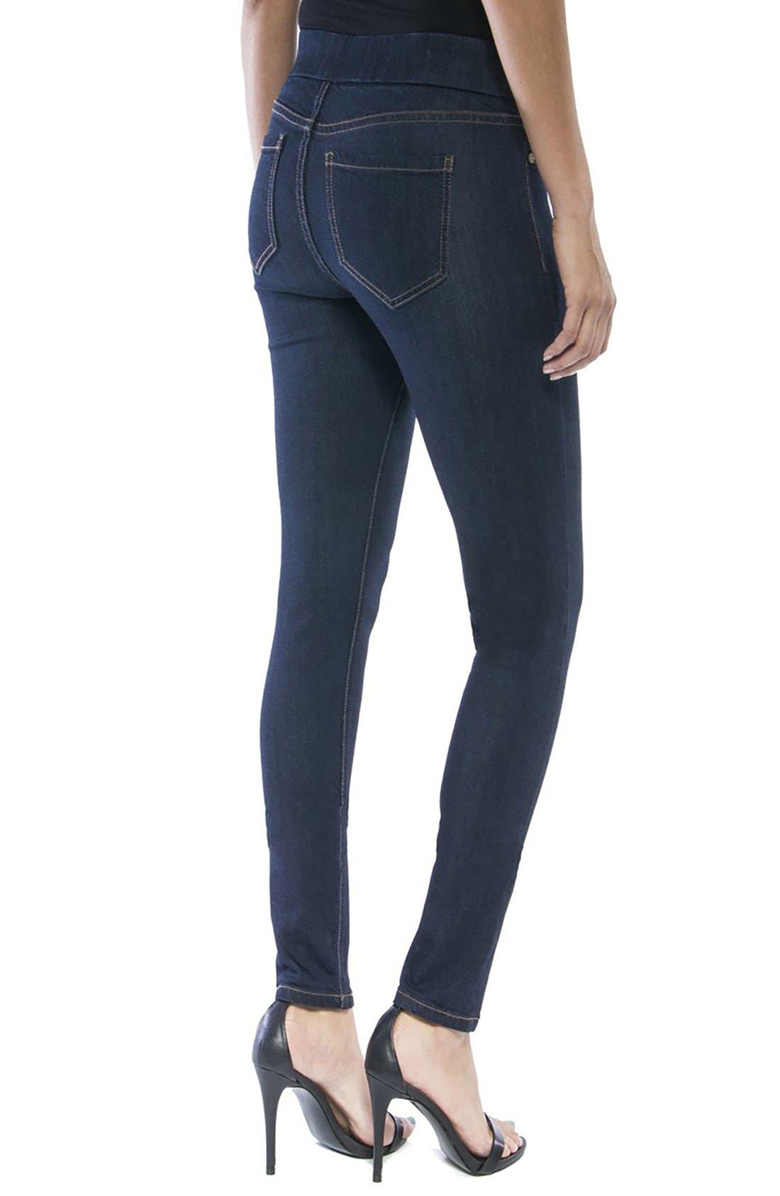 LIVERPOOL,                             Jeans Company Sienna Mid Rise Soft Stretch Denim Leggings,                             Alternate thumbnail 3, color,                             INDIGO RINSE