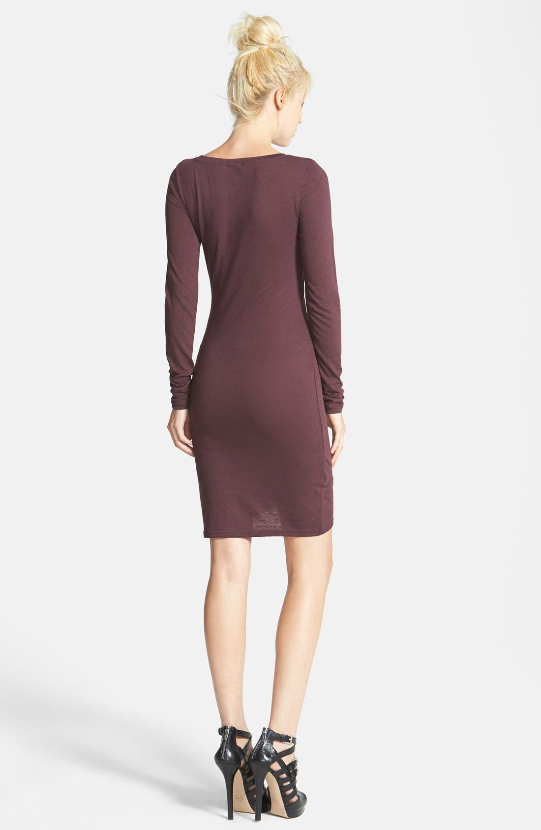 Ruched Long Sleeve Dress,                             Alternate thumbnail 78, color,