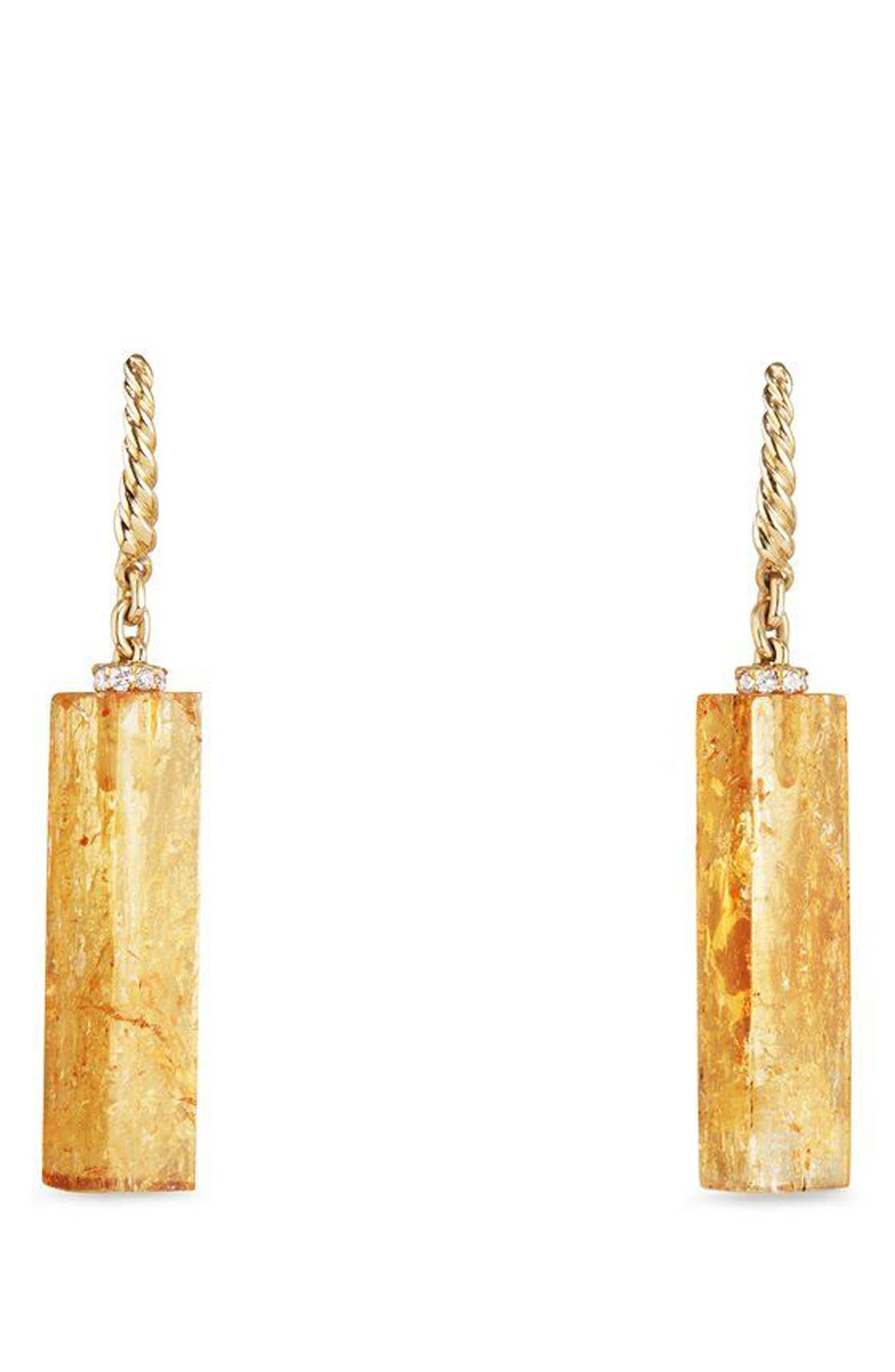Bijoux Fine Bead and Chain Earrings with Imperial Topaz,                         Main,                         color, GOLD/ IMPERIAL TOPAZ