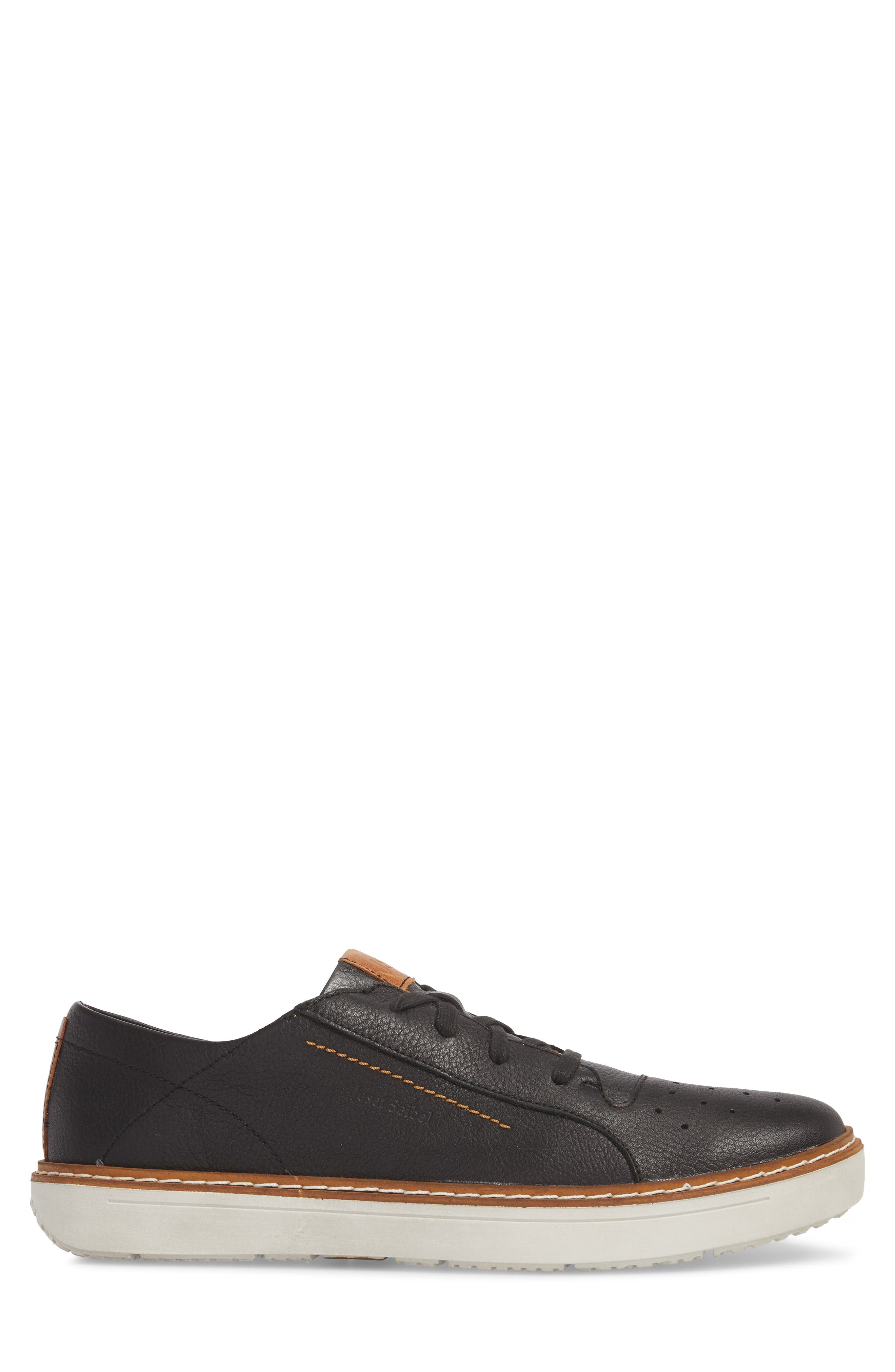 Quentin 03 Low Top Sneaker,                             Alternate thumbnail 3, color,                             BLACK KOMBI LEATHER